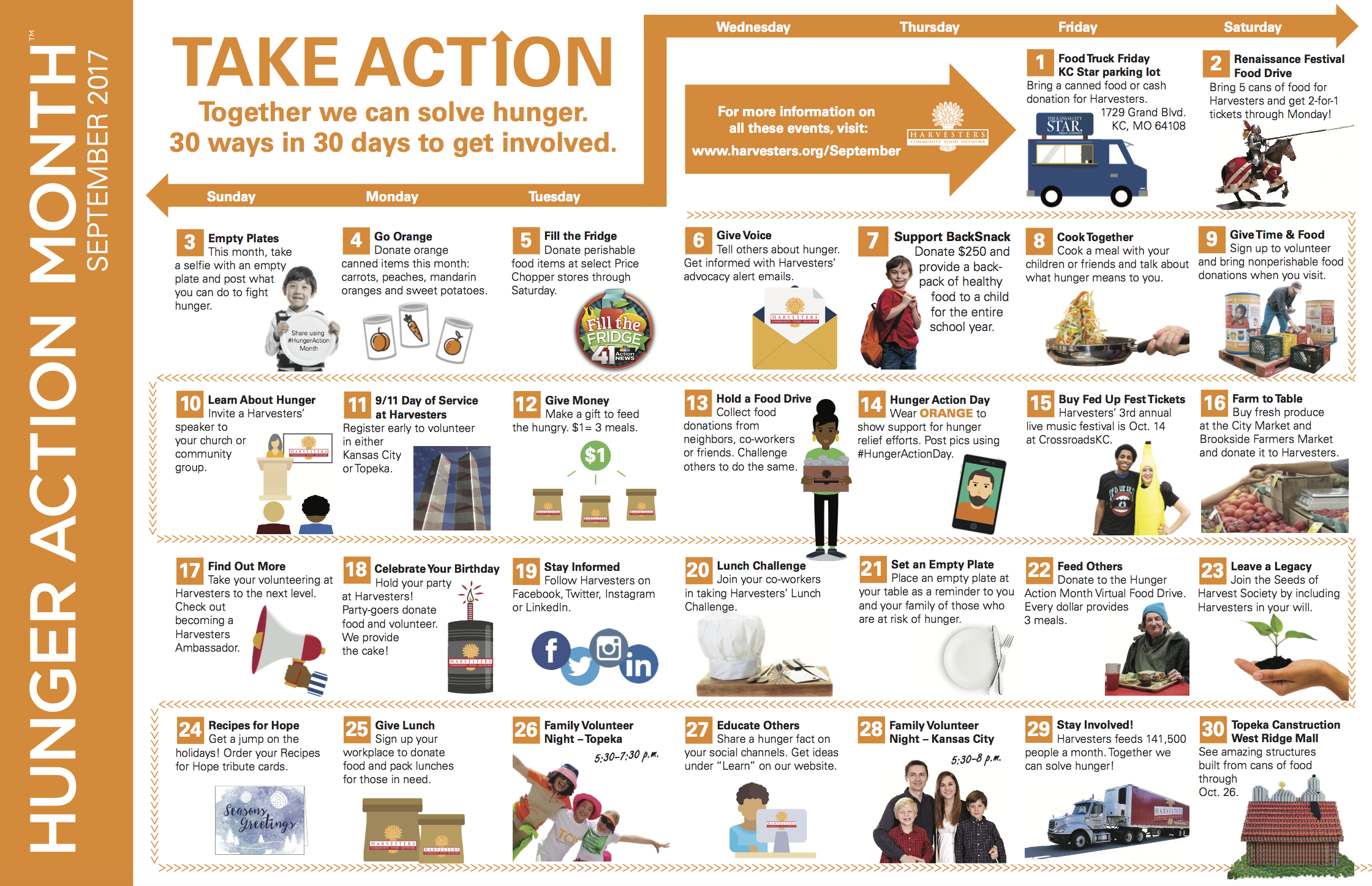 HUNGER ACTION MONTH CALENDAR