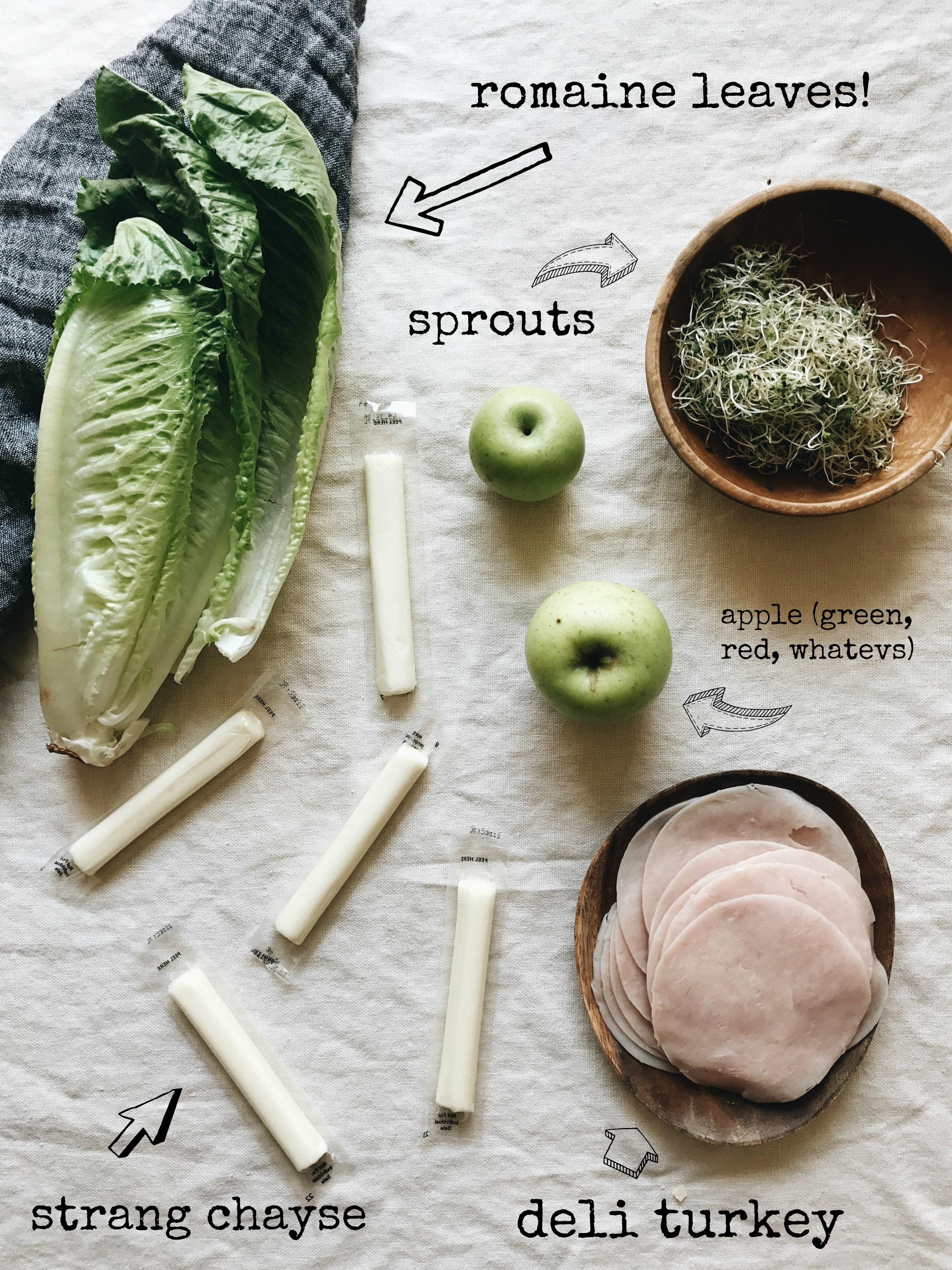 Lunch Lettuce Wraps / Bev Cooks
