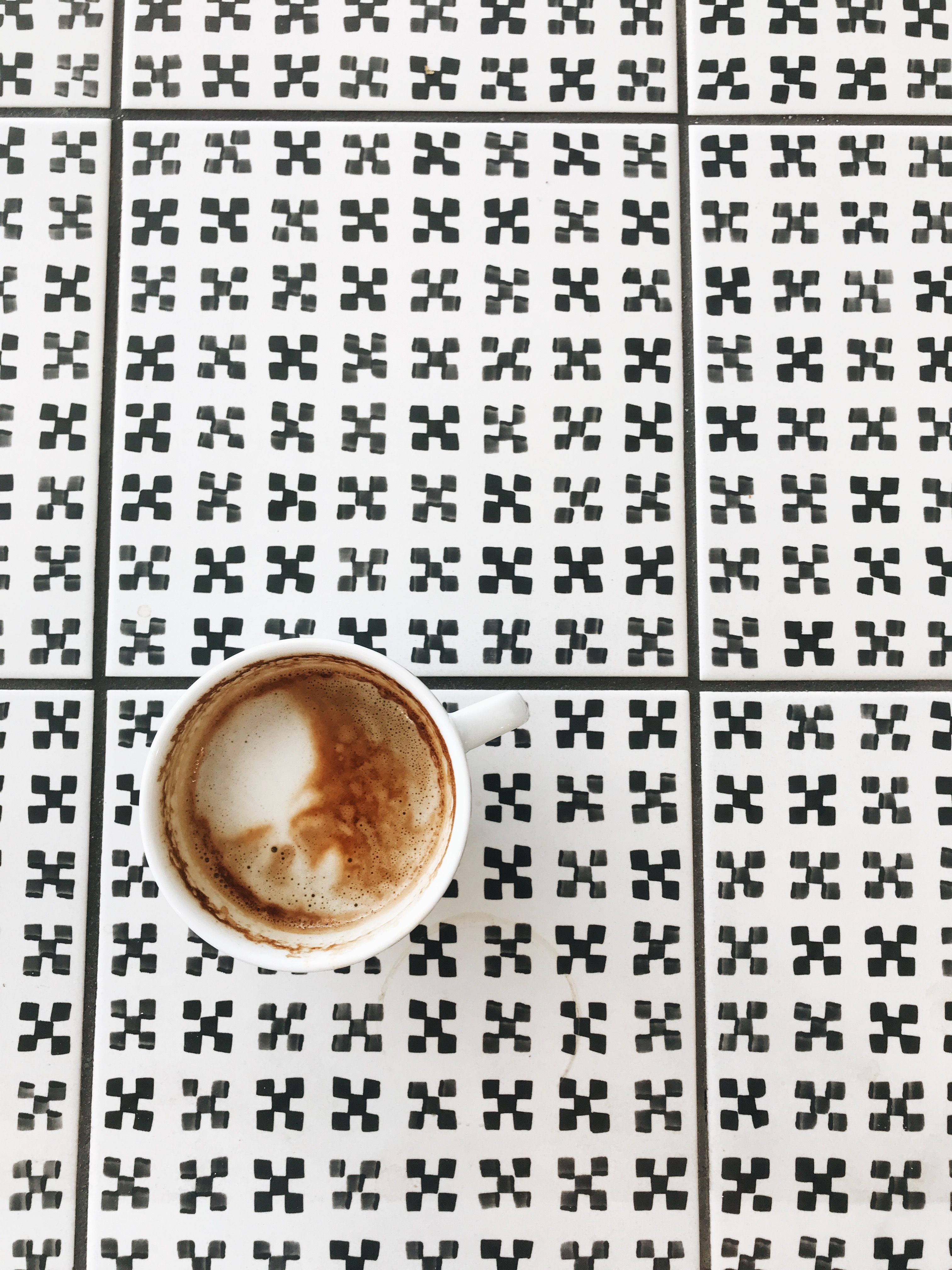 cappucino and tile