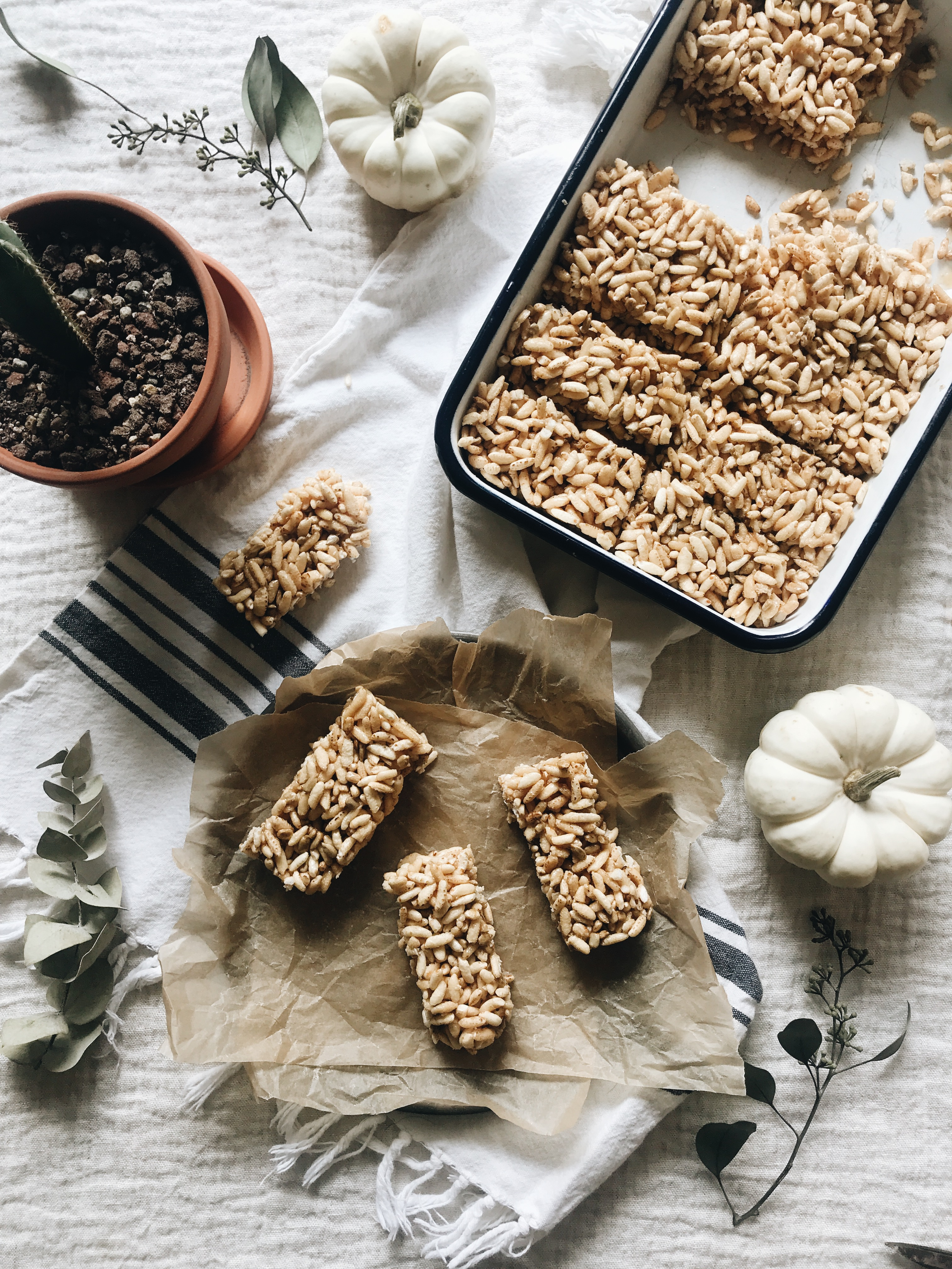 Puffed Rice Bars / Bev Cooks