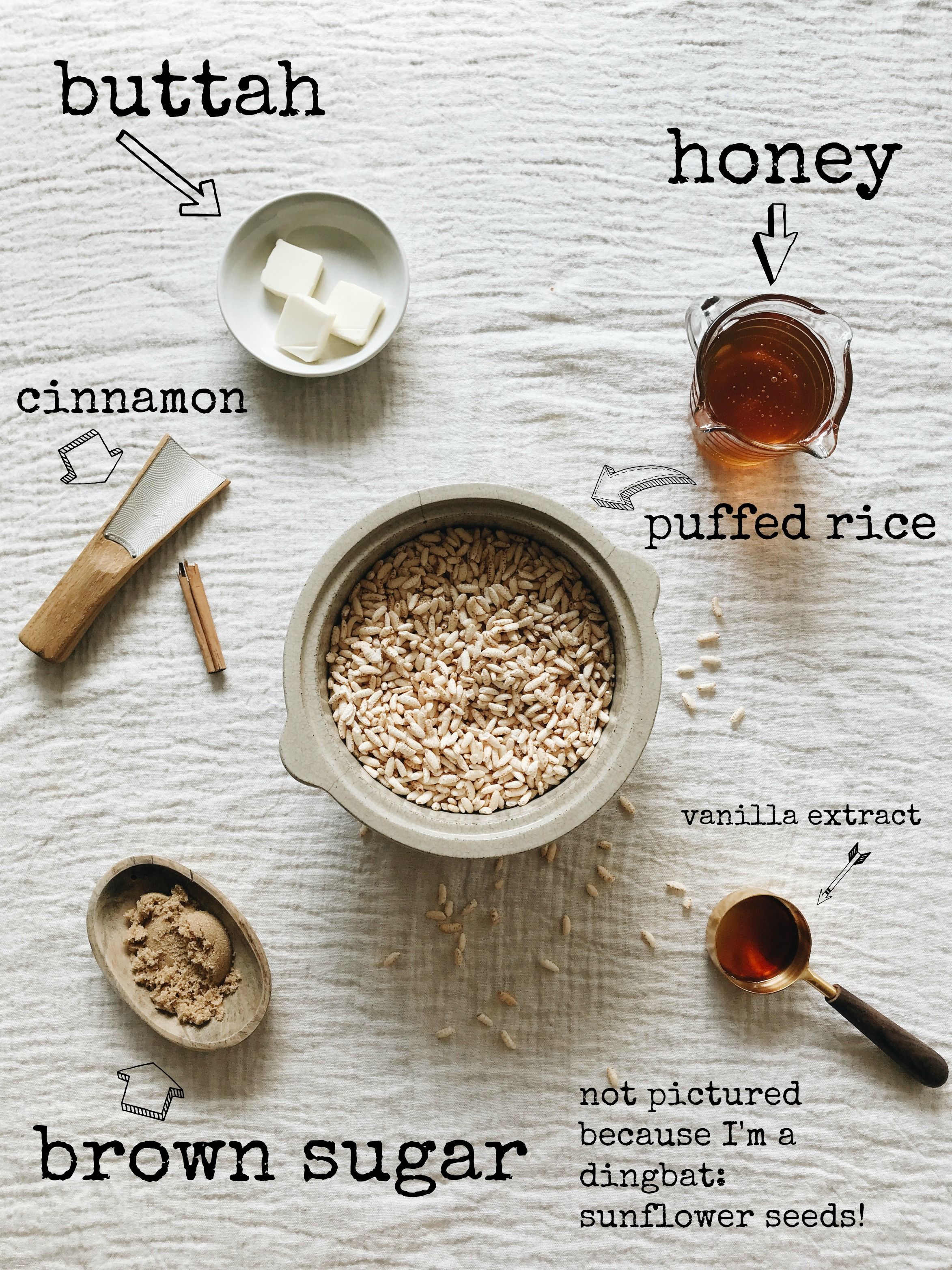 Puffed Rice Bars / Bev Cooks