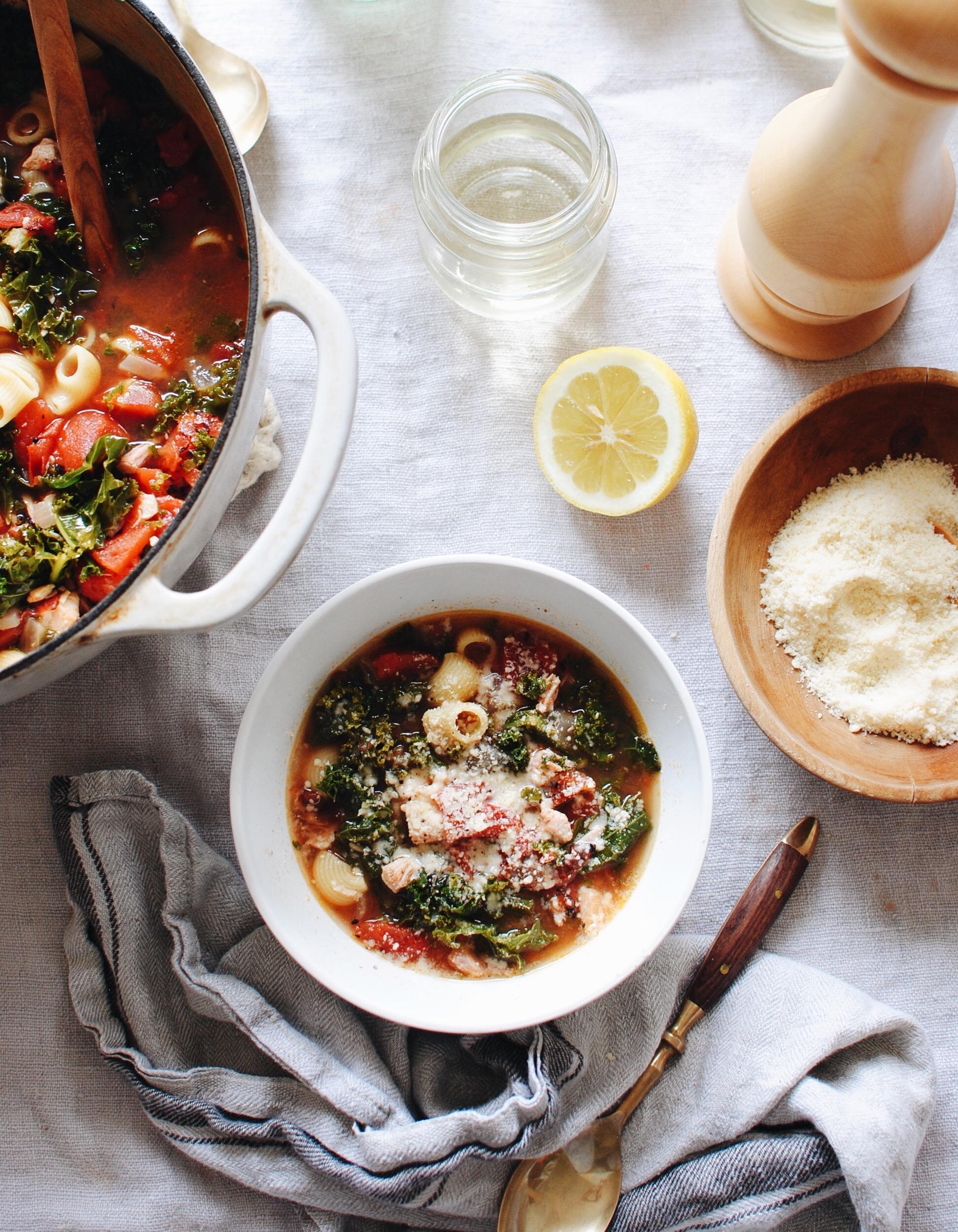 Leftover Turkey Soup / Bev Cooks