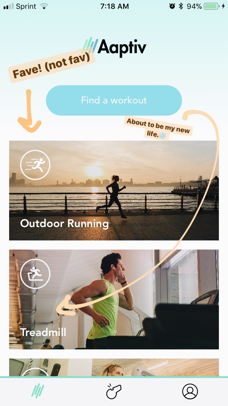 Running (and other exercises) with Aaptiv! / Bev Cooks