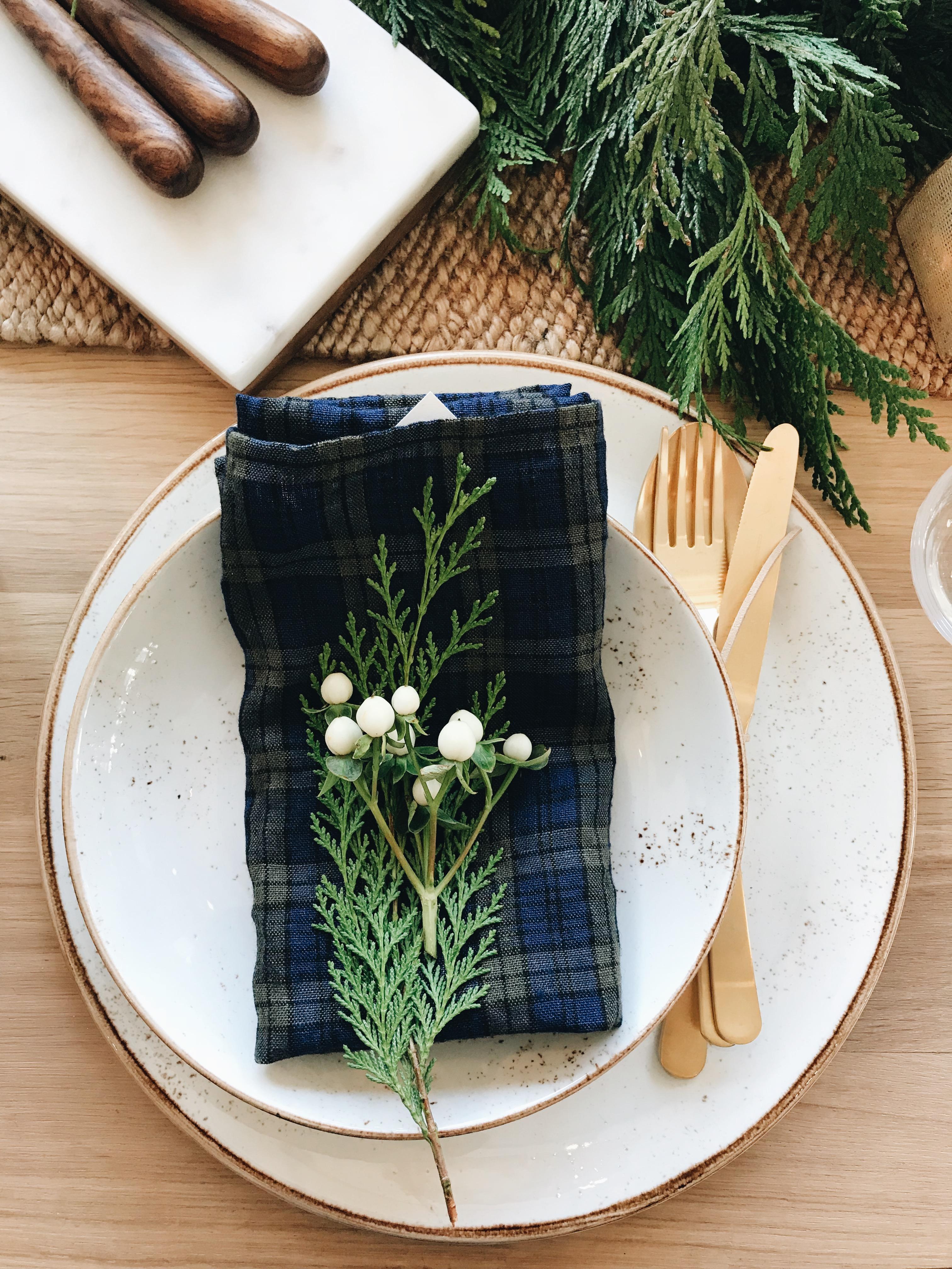 festive dinner ware