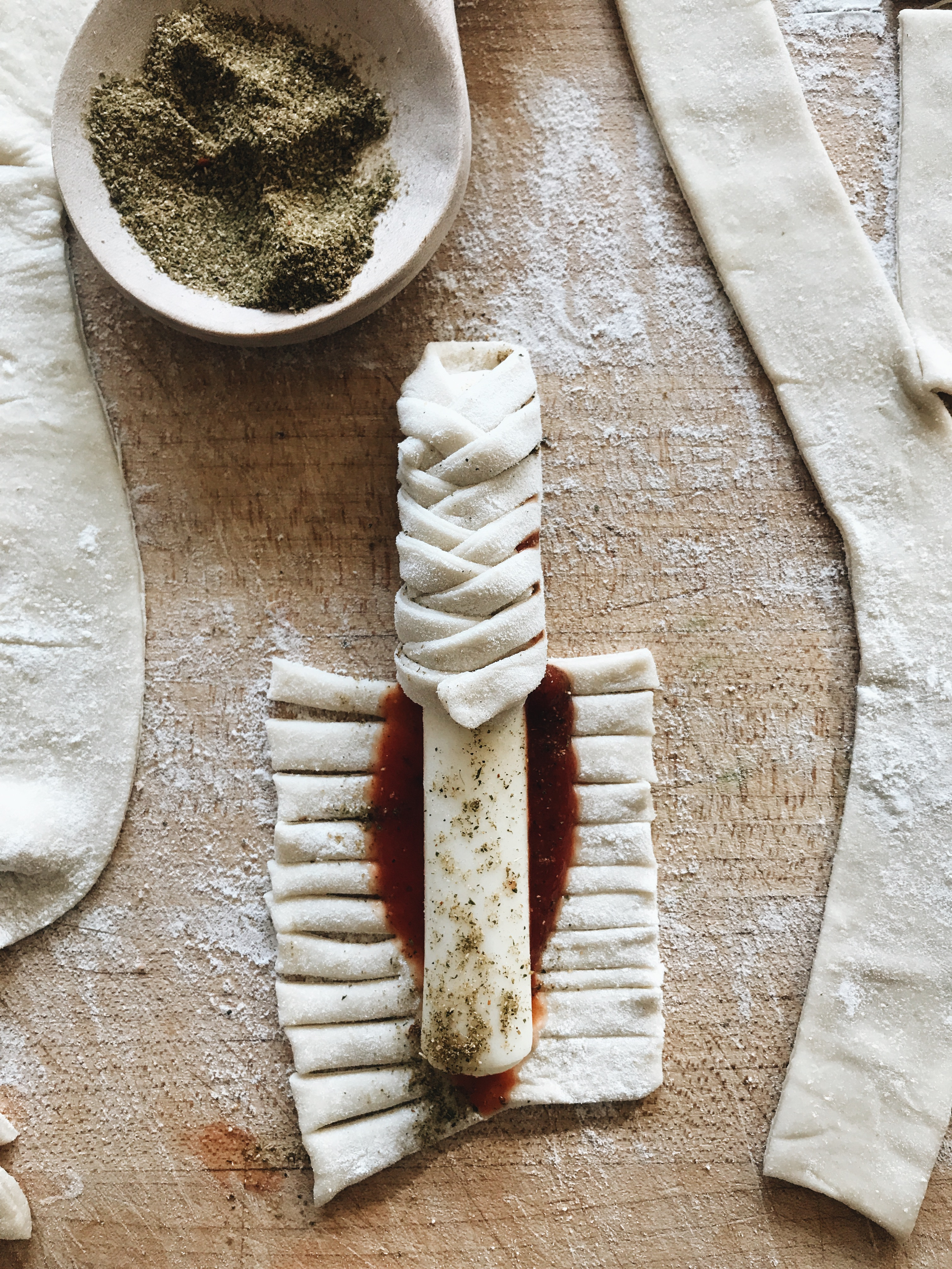 Shortcut Pizza Bites / Bev Cooks