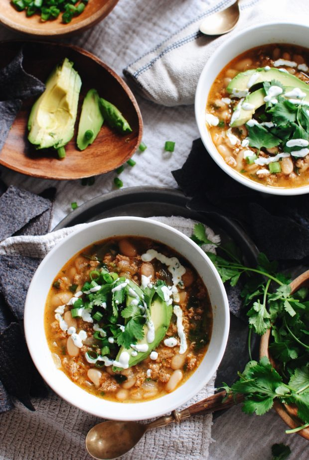 Short Cut Salsa Verde Turkey Soup / Bev Cooks