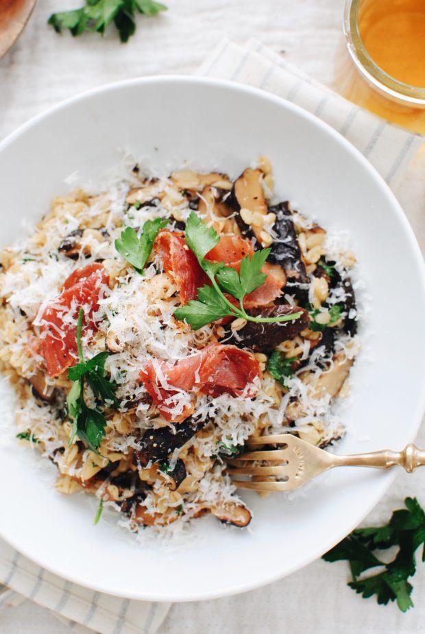 Mushroom and Barley Risotto / Bev Cooks