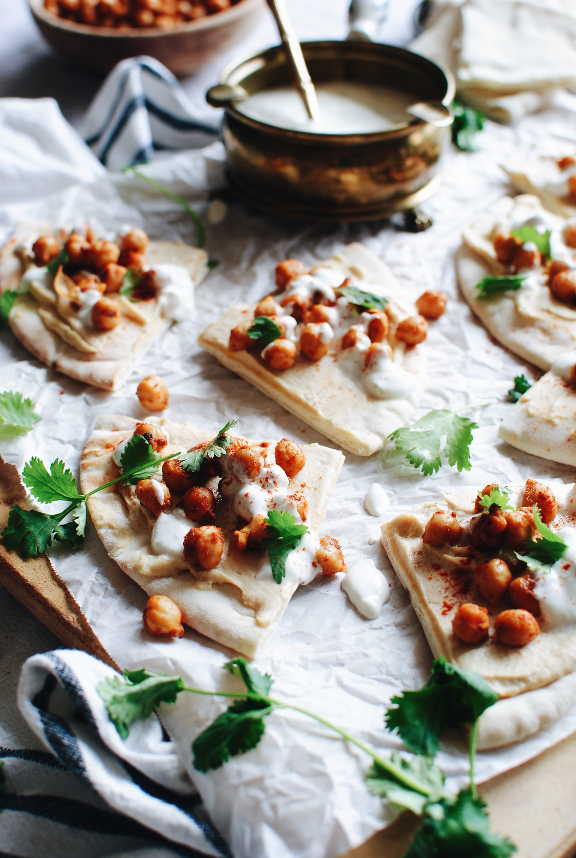 Chickpea Shawarma Flatbread / Bev Cooks
