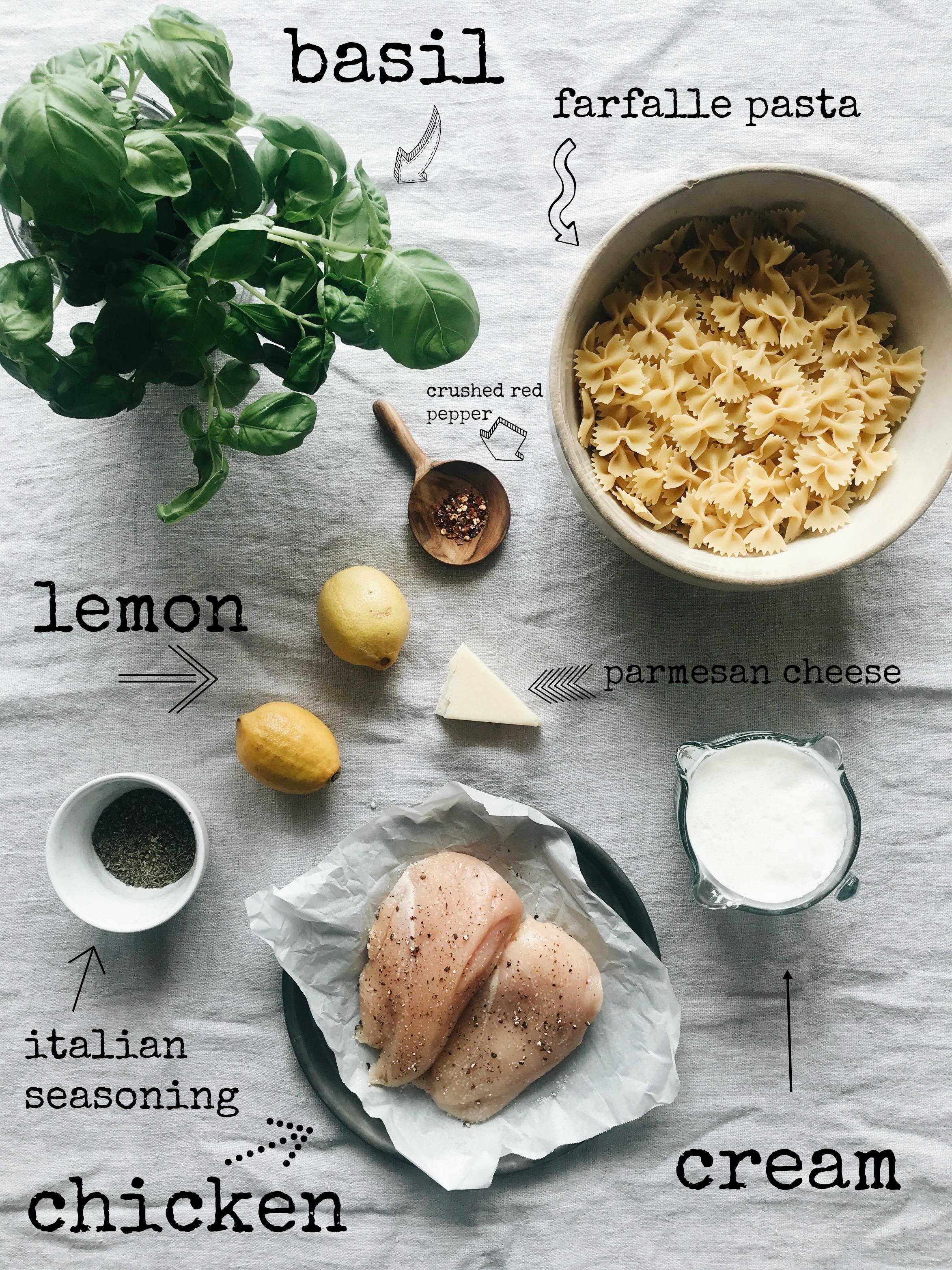 Creamy Chicken and Farfalle Pasta   Bev Cooks