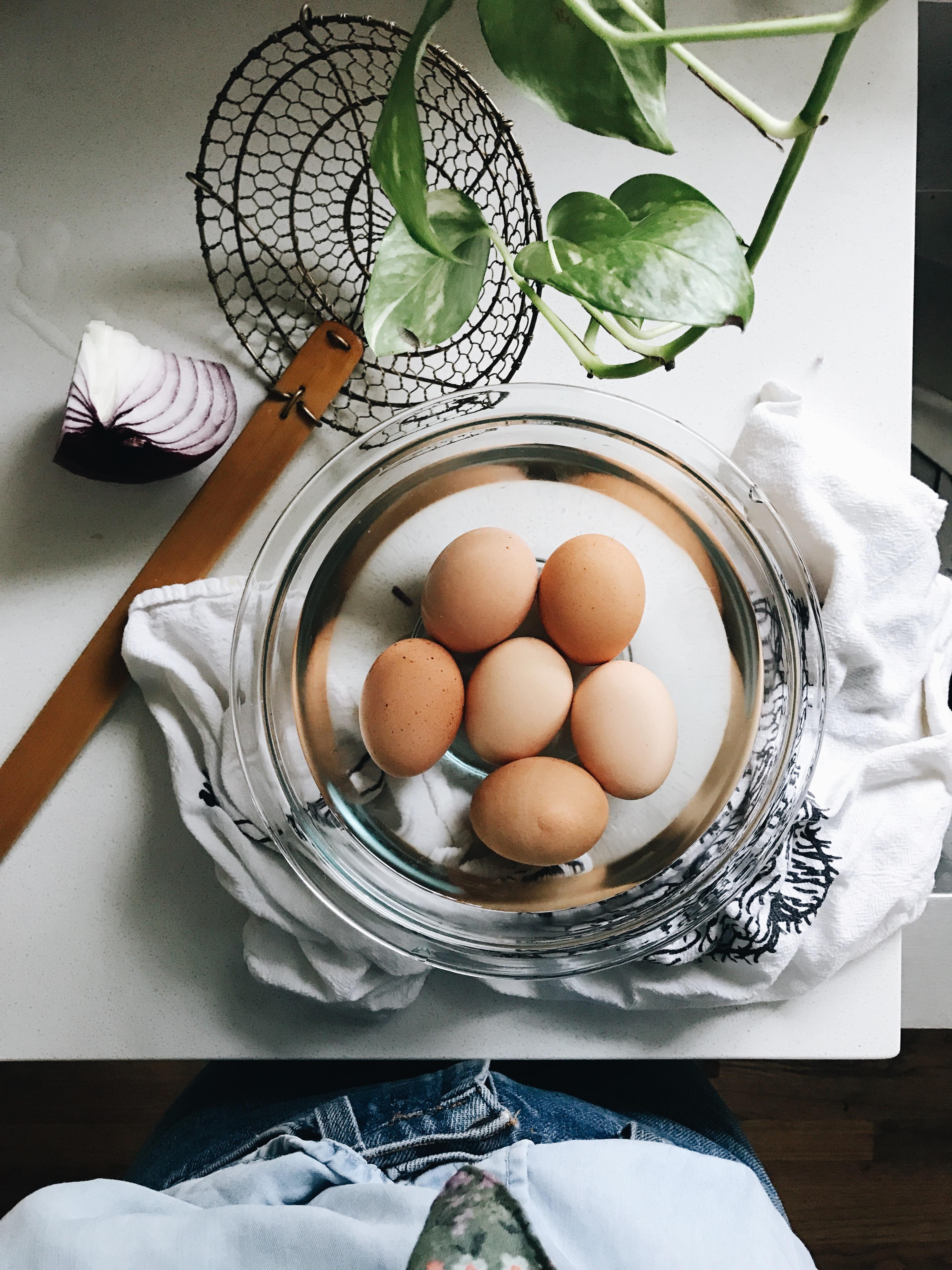 Open-Faced Egg Salad Sandwiches / Bev Cooks