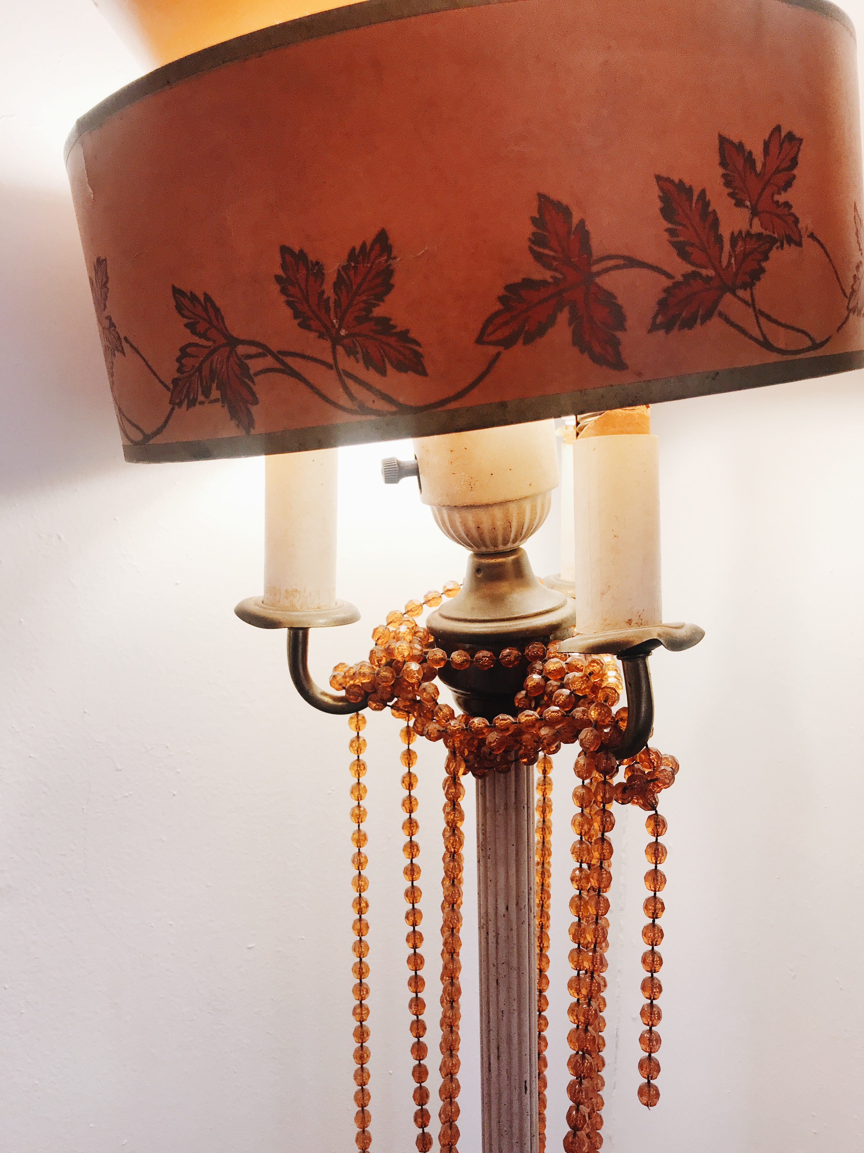 lamp and beads