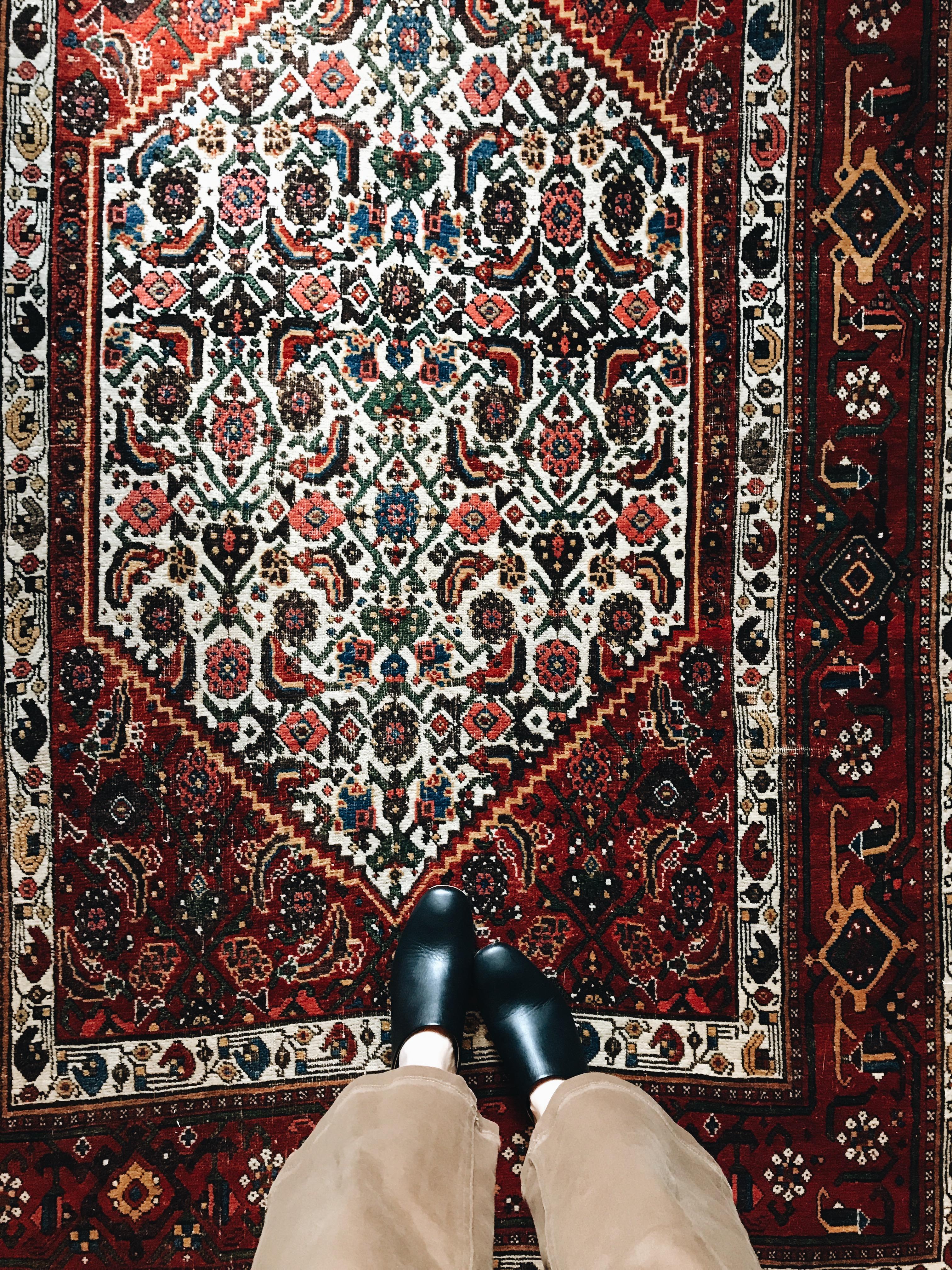 rug and feet
