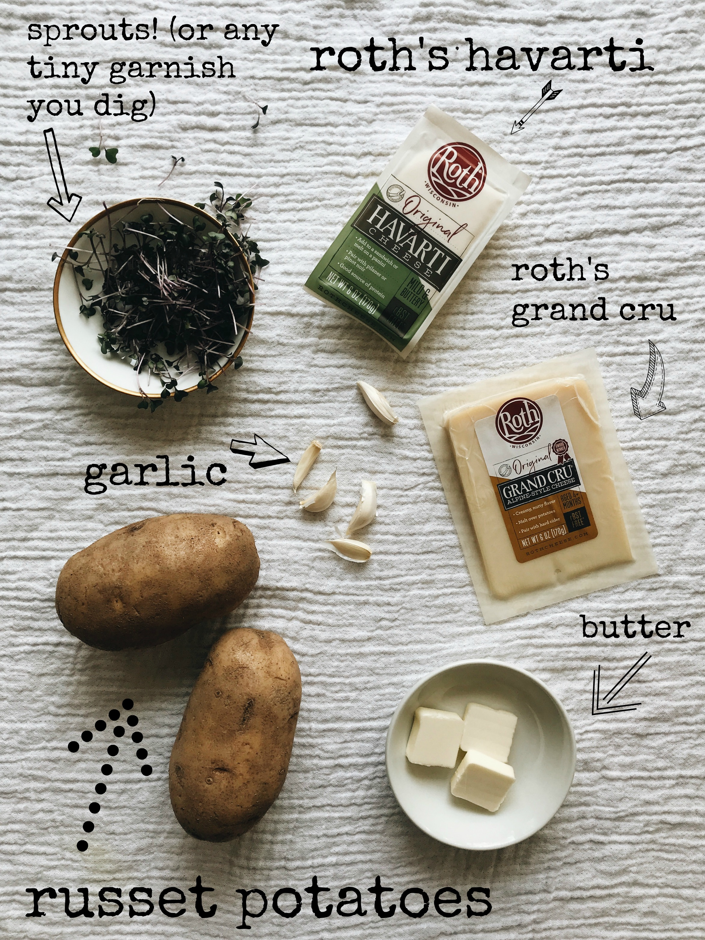 Cheesy Skillet Potatoes / Bev Cooks