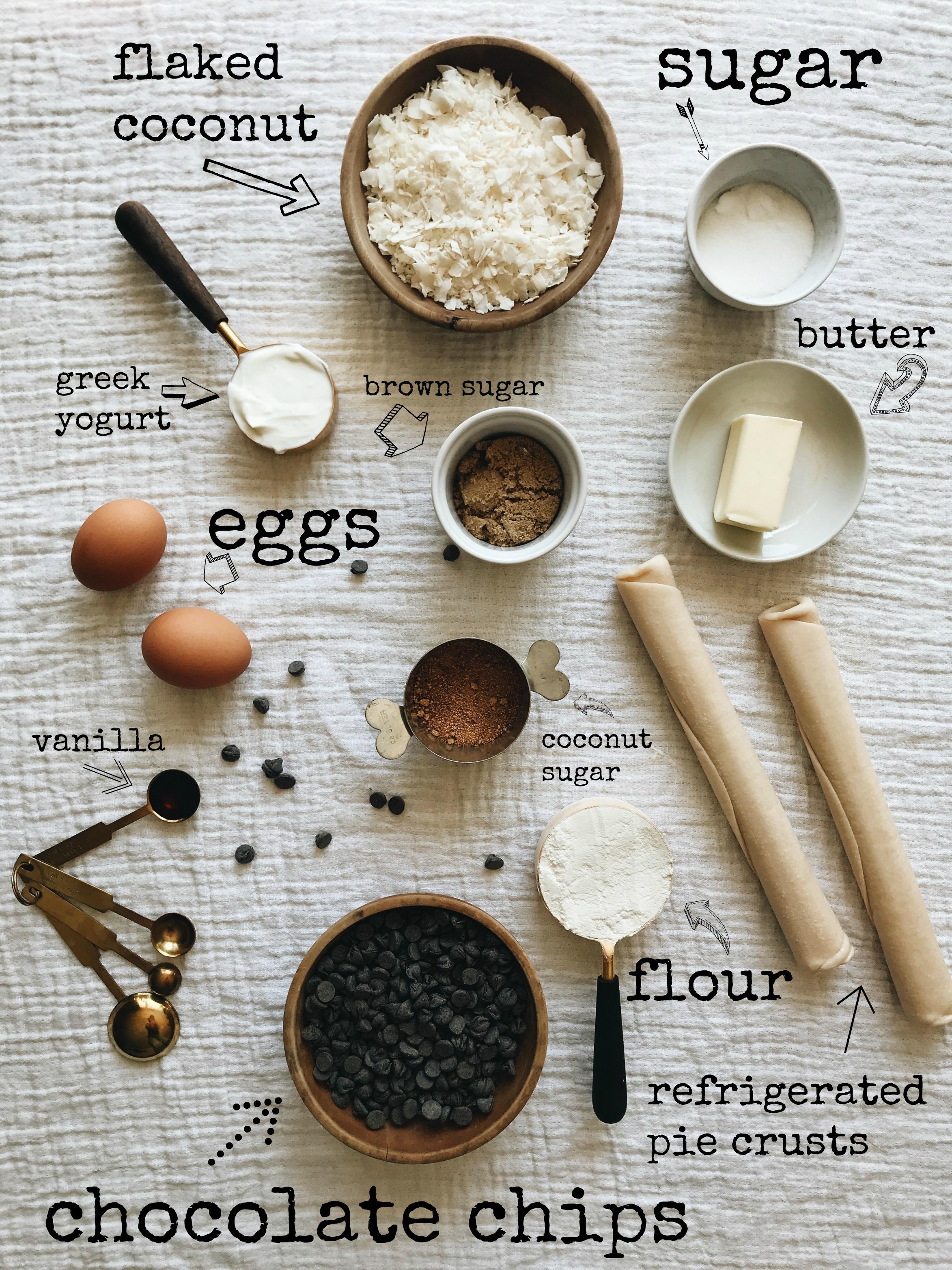 Mini Chocolate Coconut Pies / Bev Cooks