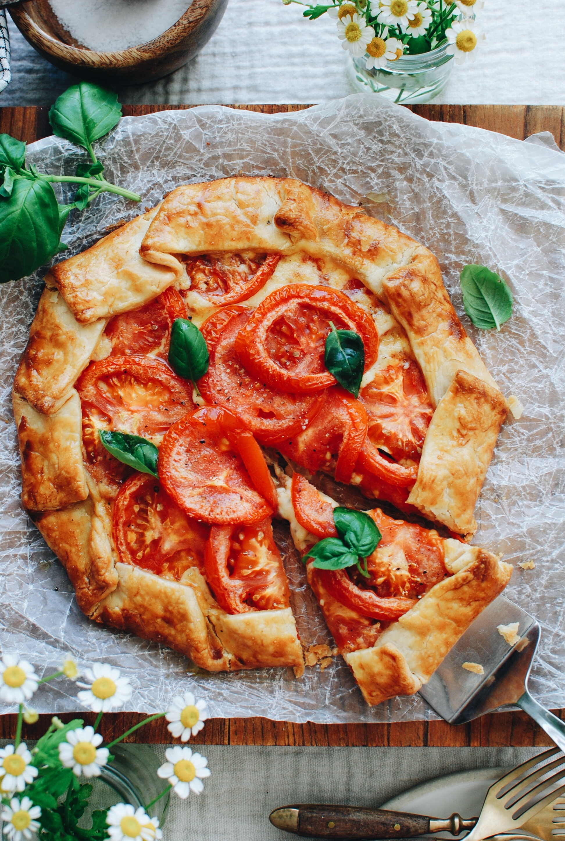 Tomato and Gouda Galette / Bev Cooks