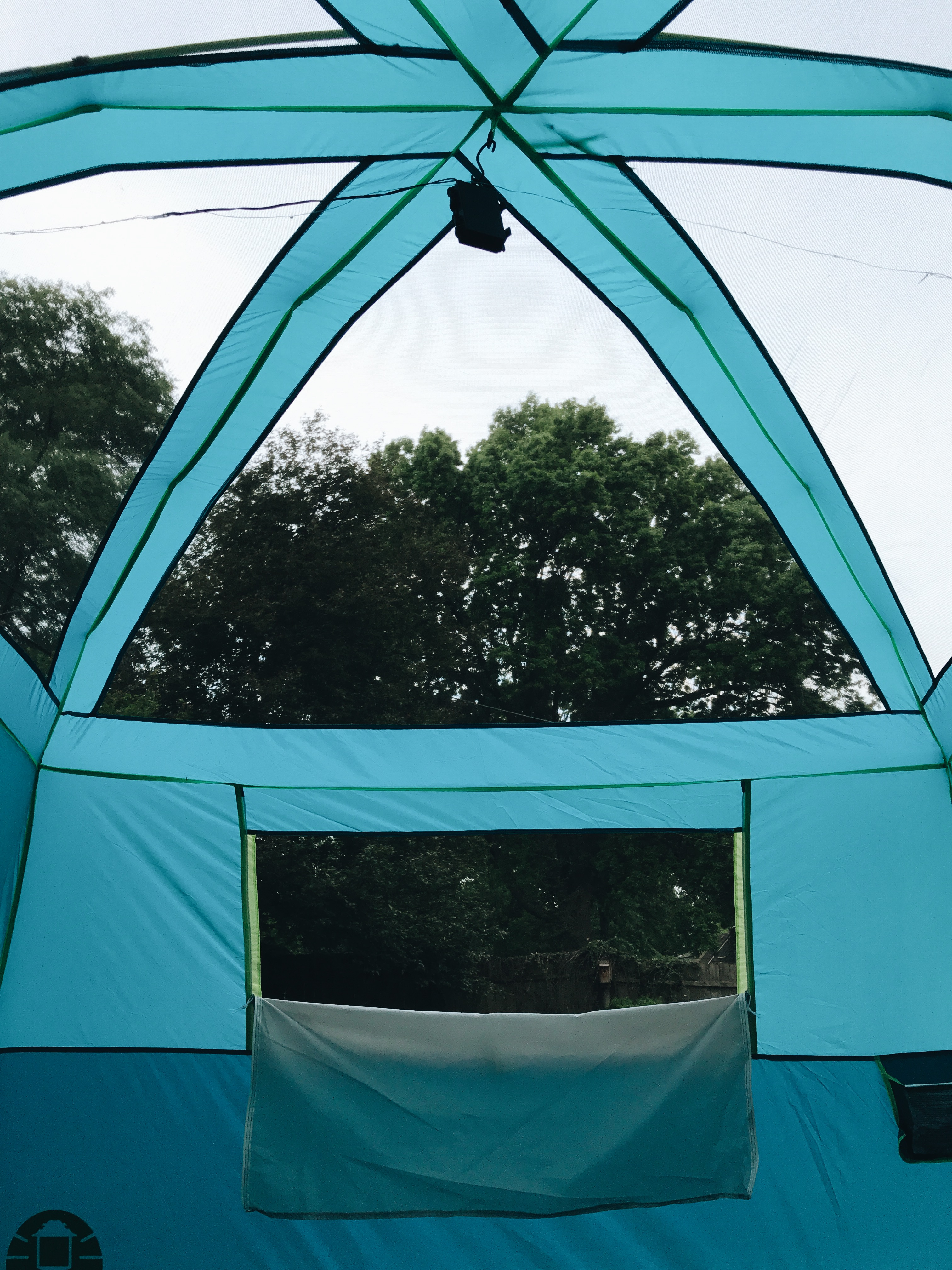 tent in the backyard!