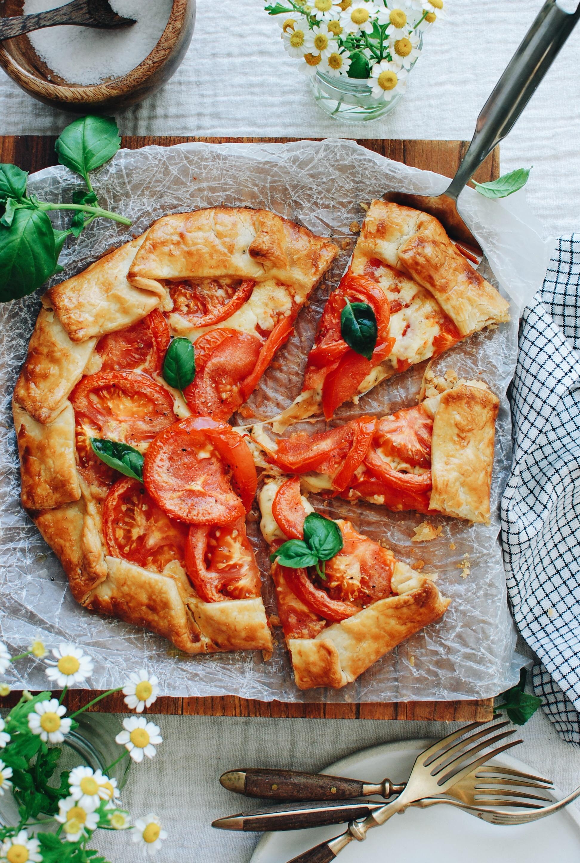 Tomato and Gouda Galette / Bev Cooks