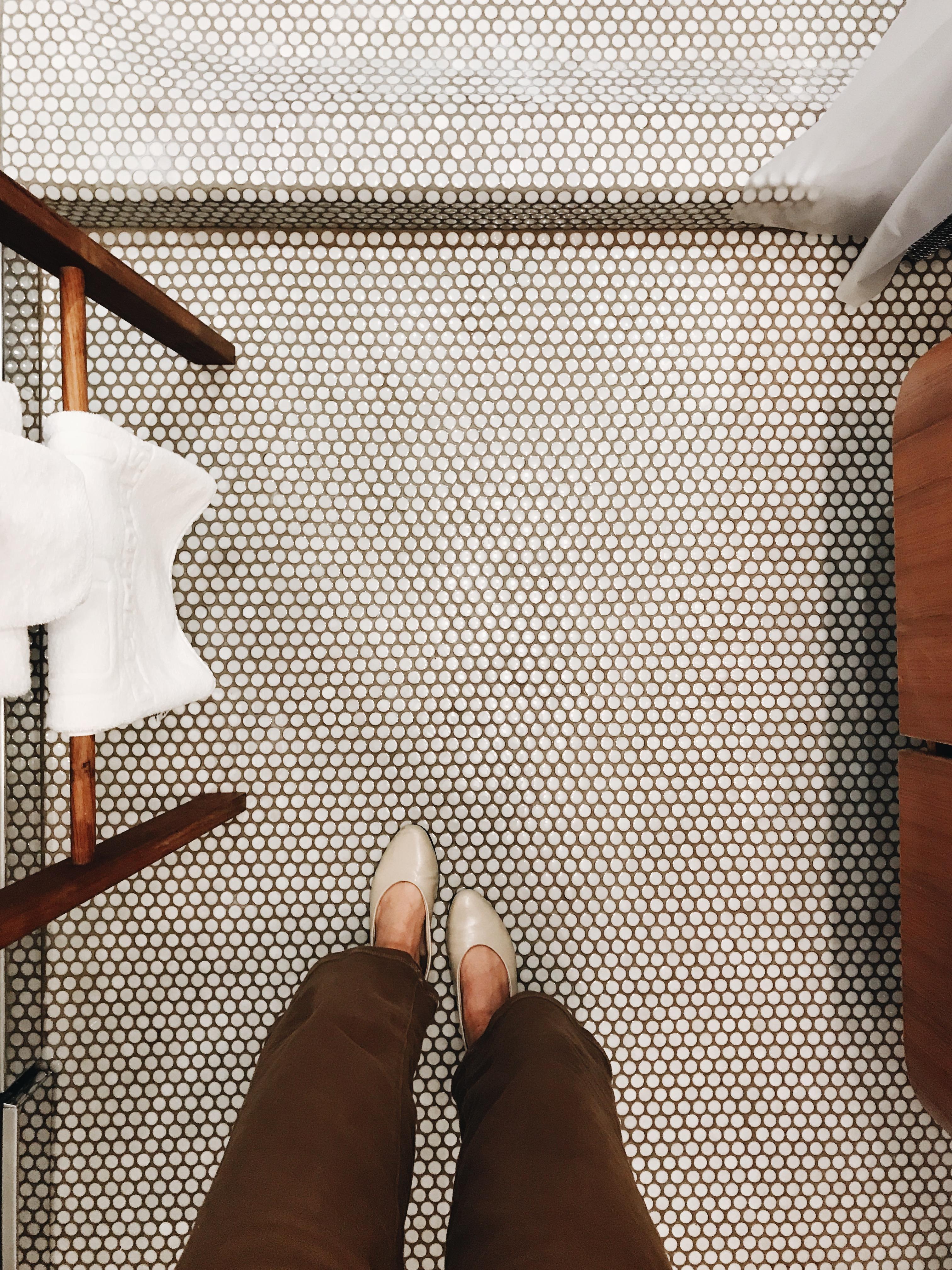 cute bathroom tile in NYC