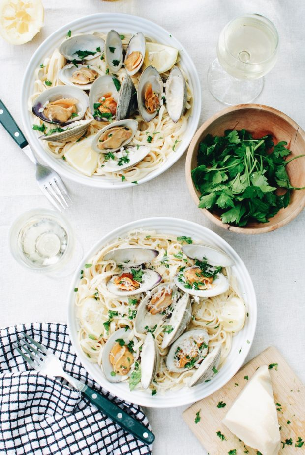 Linguine with Clams / Bev Cooks