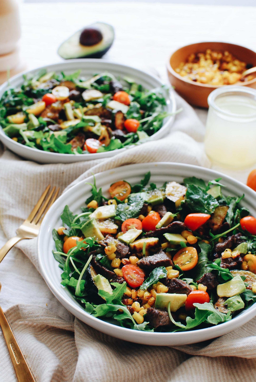 Summer Steak Salad / Bev Cooks