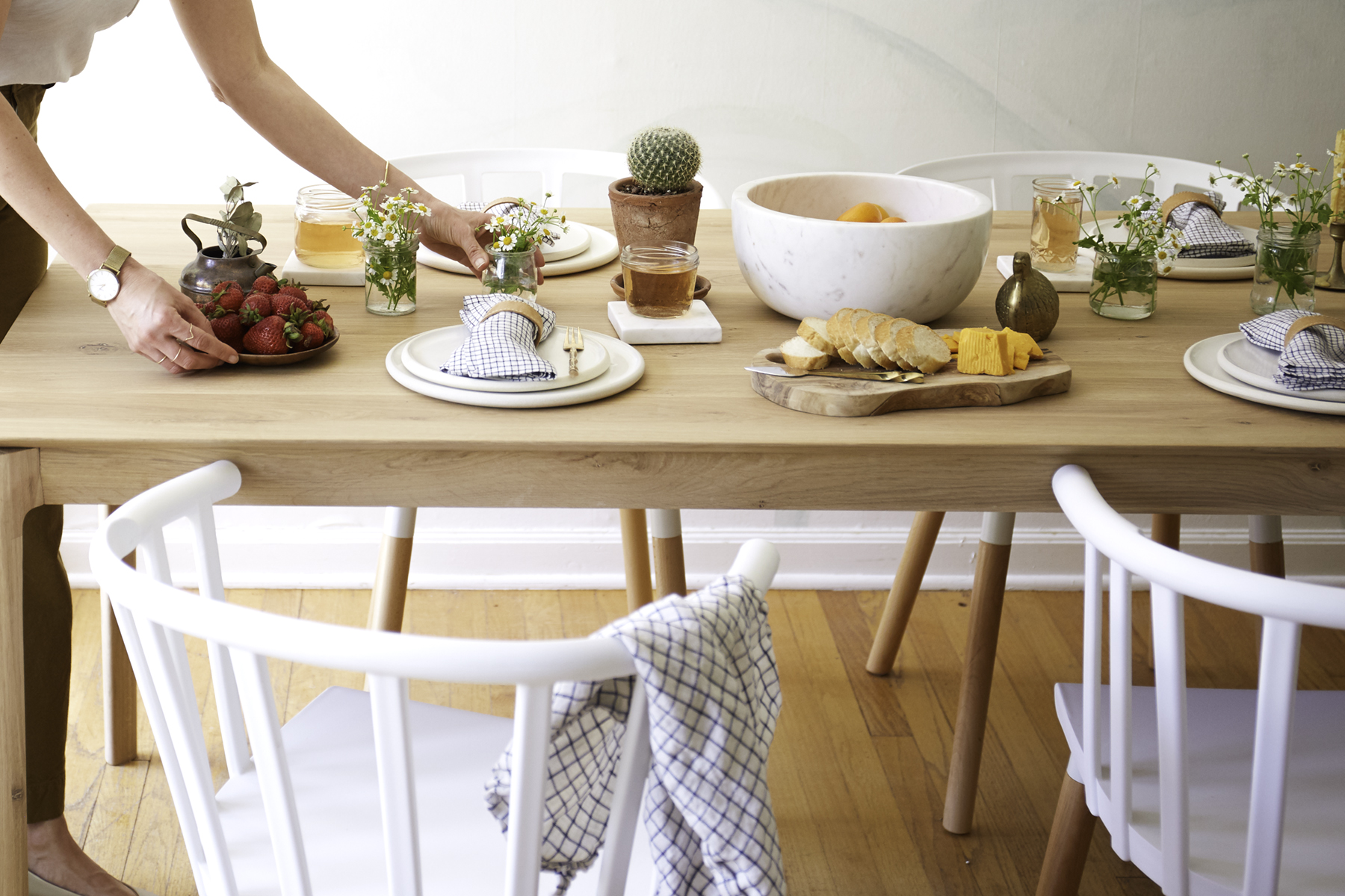 A Fresh Dining Space with Golden and Pine! / Bev Cooks