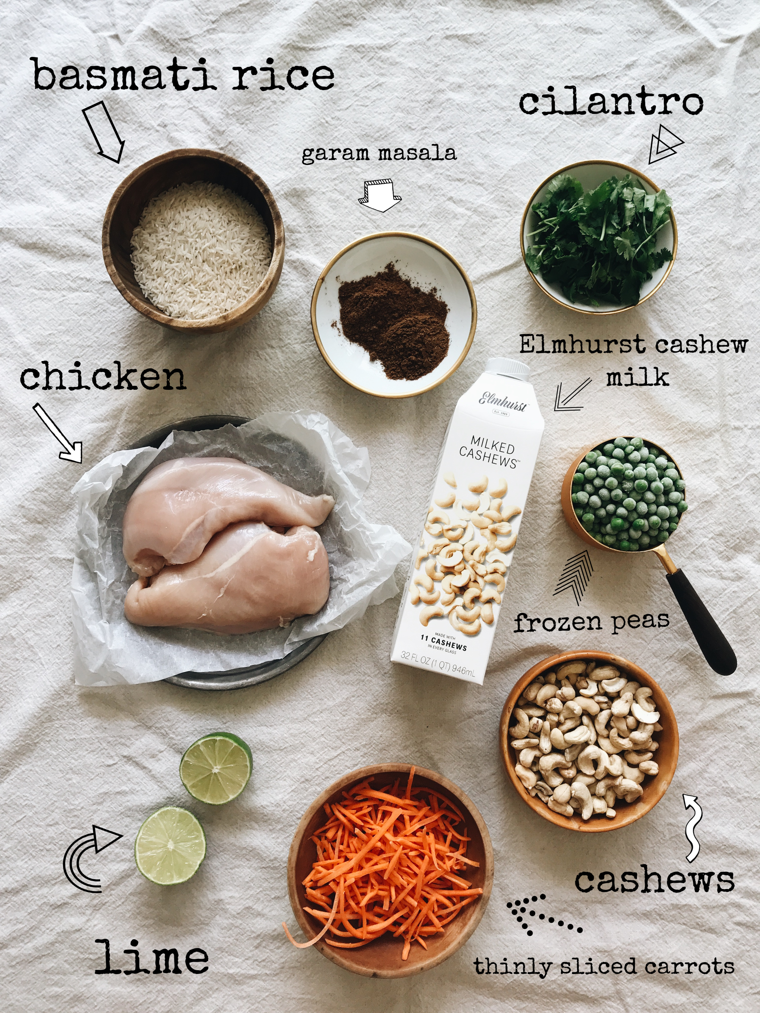Dairy-Free Indian Cashew Chicken / Bev Cooks