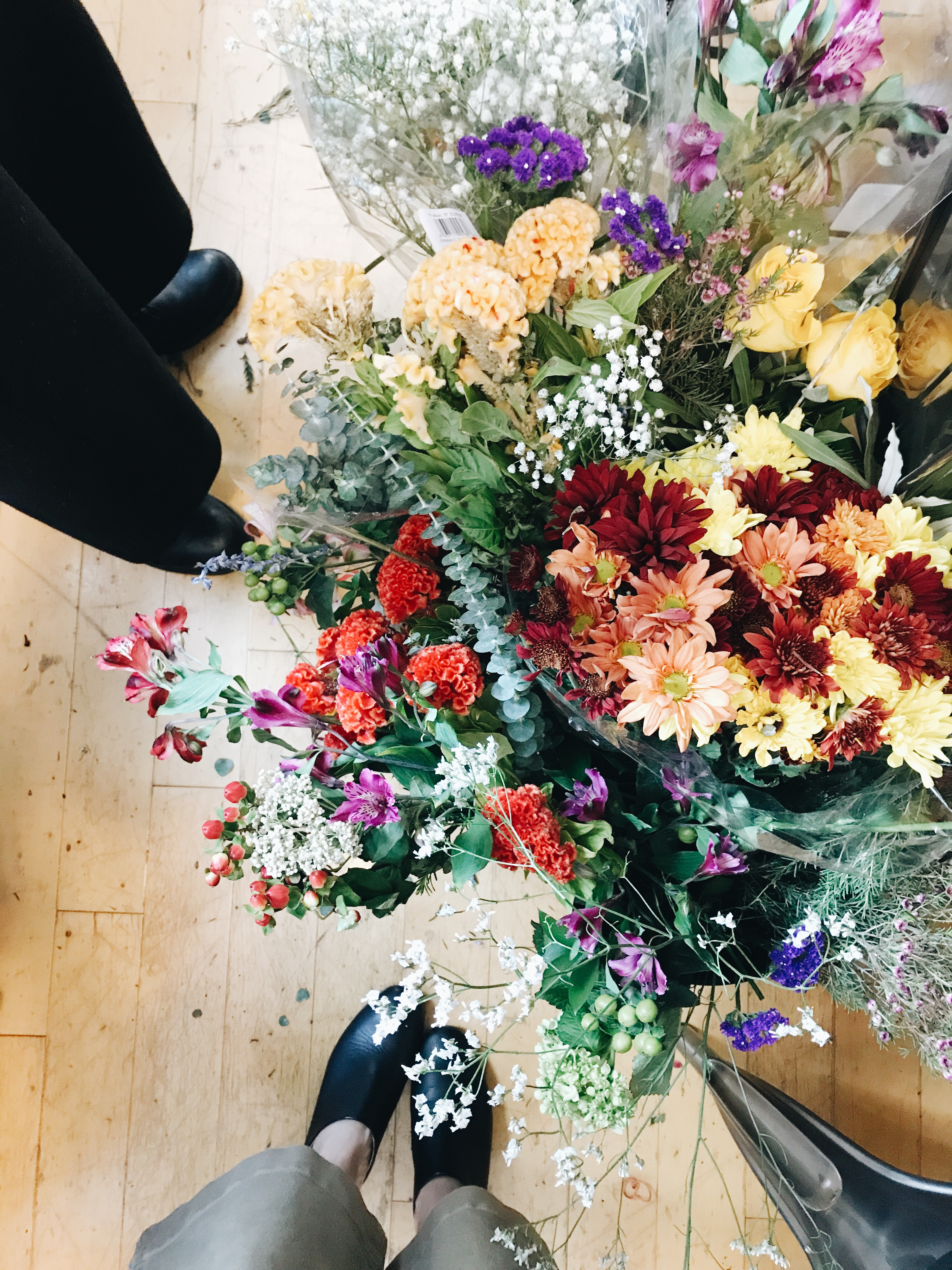 flowers and feet