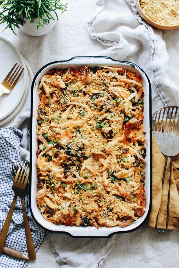 Chicken and Mushroom Noodle Casserole / Bev Cooks