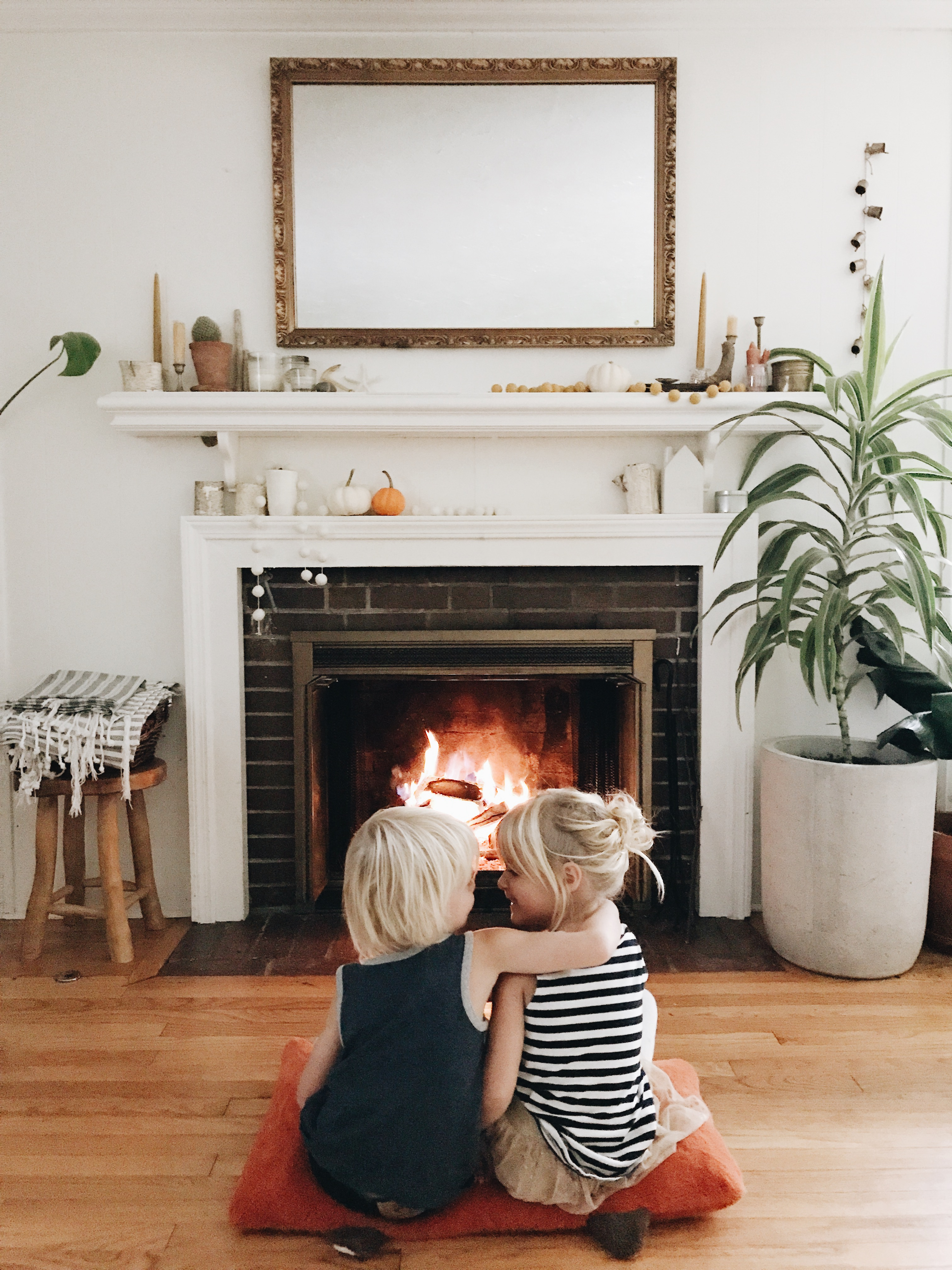 twins and a fire