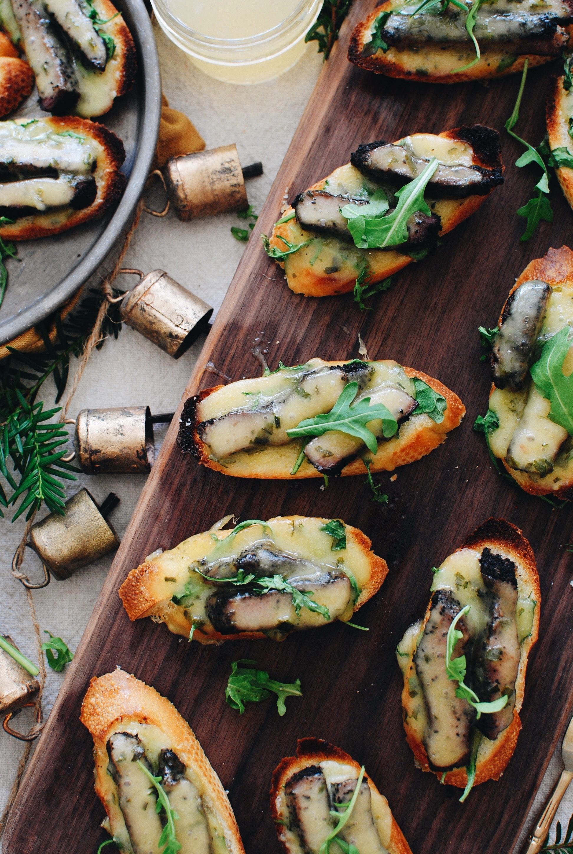 Steak and Horseradish Havarti Crostini / Bev Cooks