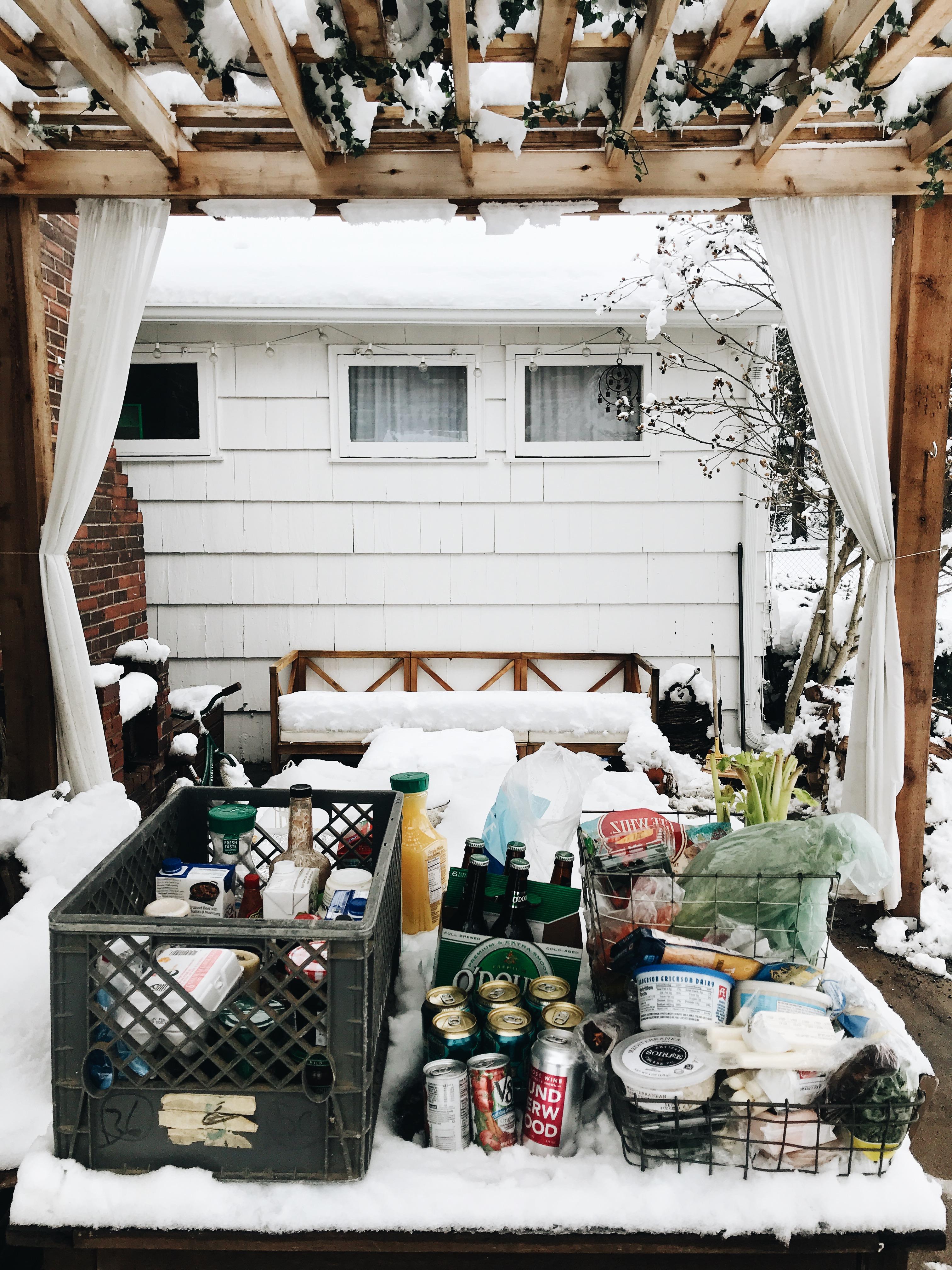 outdoor fridge