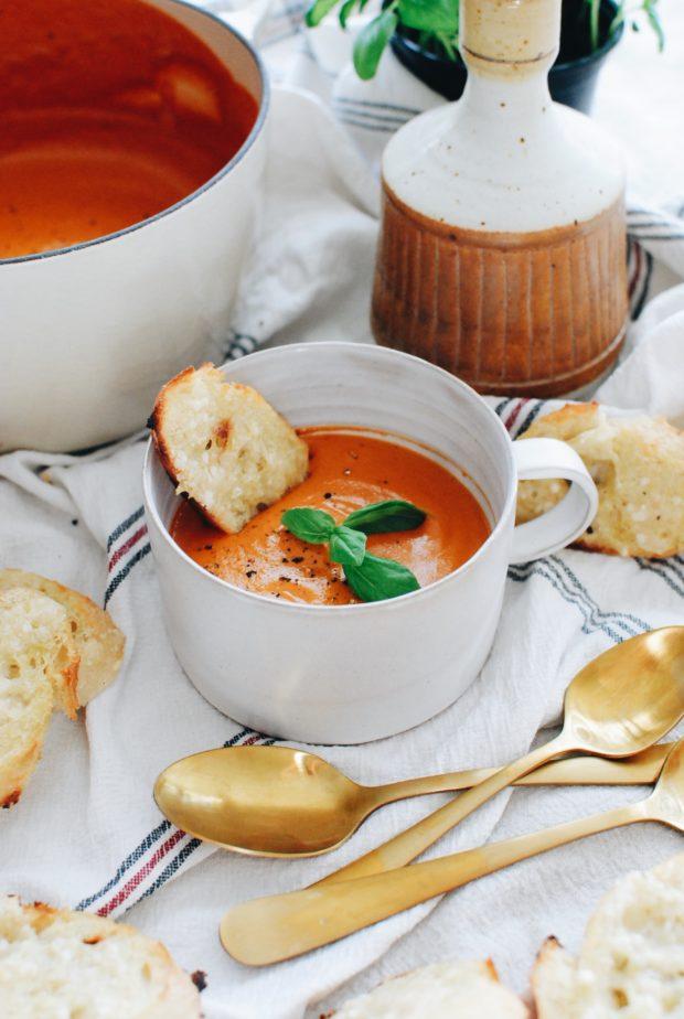 Creamy Roasted Tomato Soup / Bev Cooks