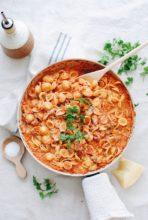 Creamy Orecchiette Turkey Bolognese / Bev Cooks