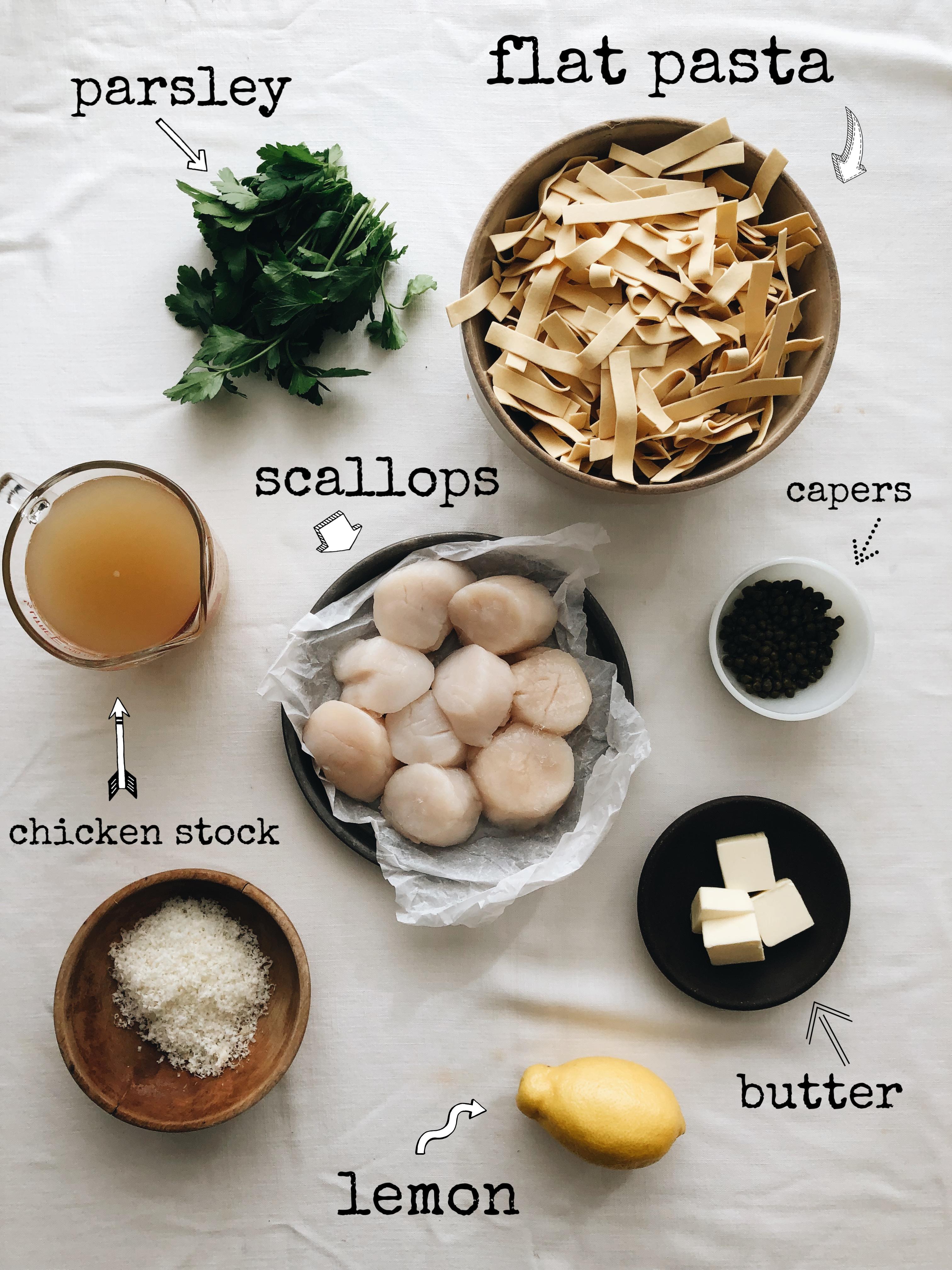 Scallop Piccata / Bev Cooks