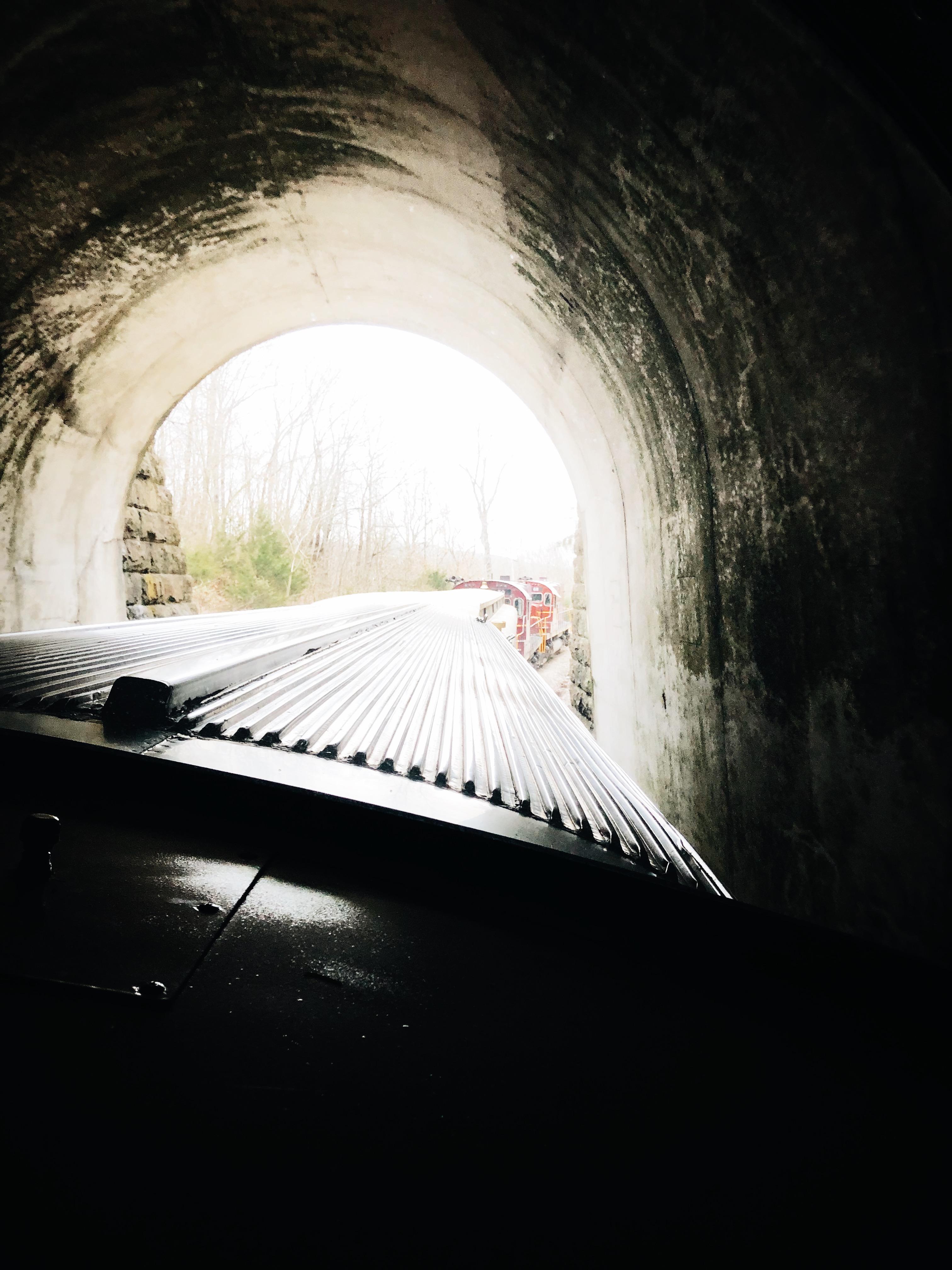 train in a tunnel