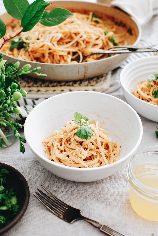 Thai Coconut Noodles / Bev Cooks