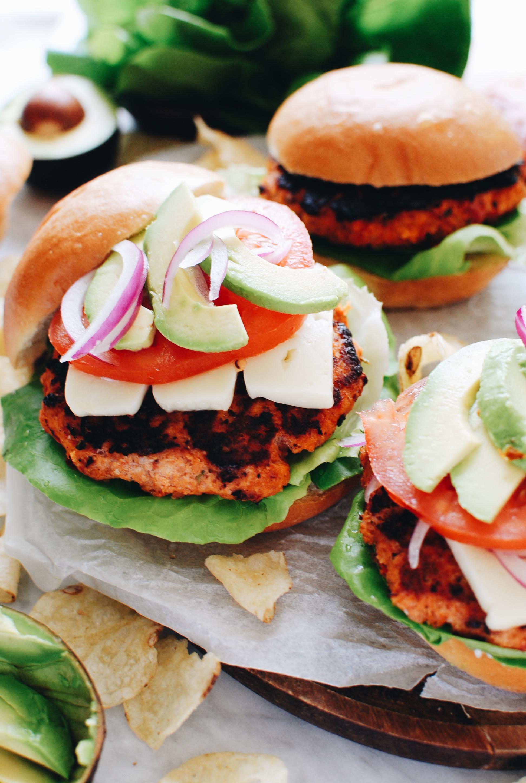 Sundried Tomato Chicken Burgers / Bev Cooks
