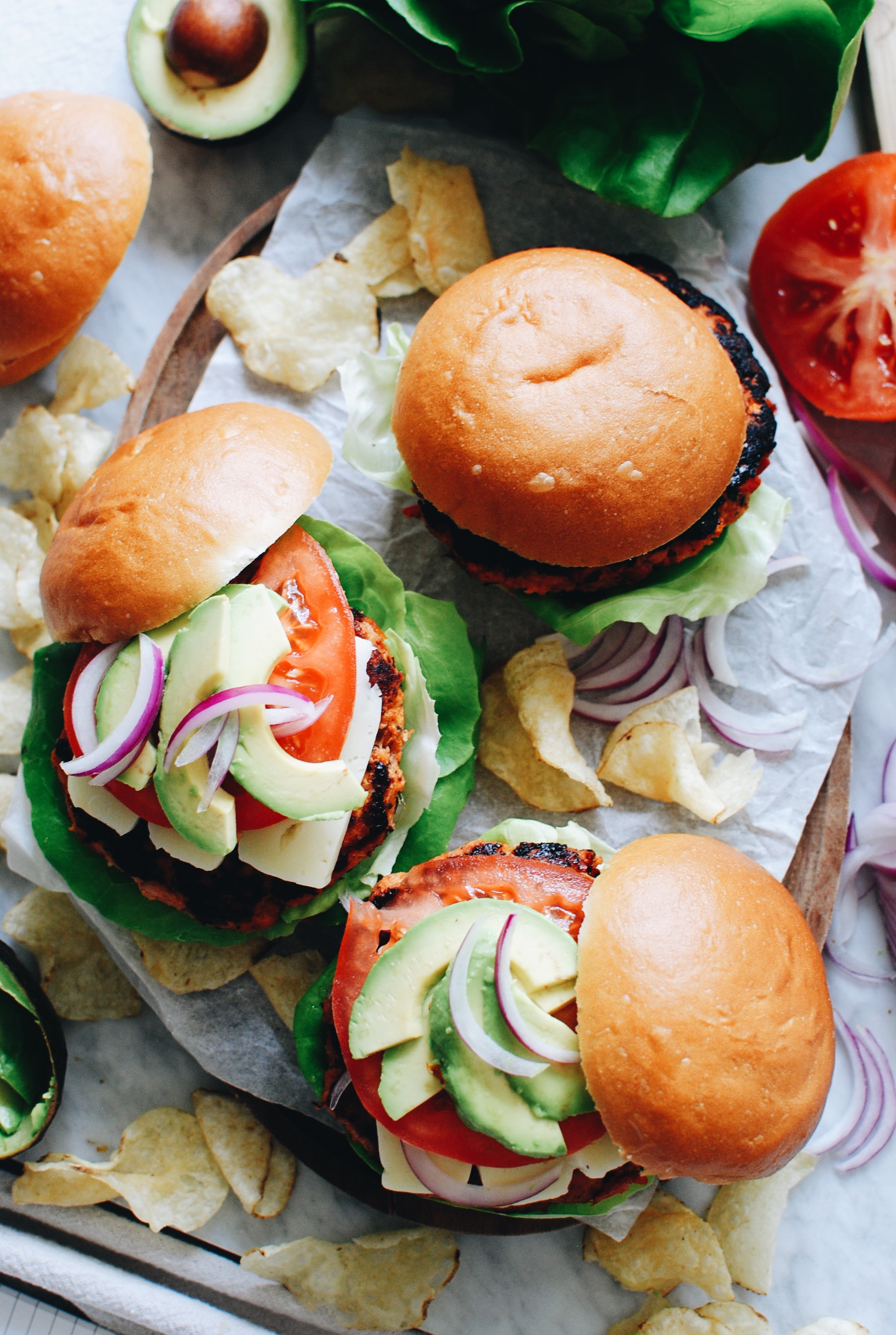 Sundried Tomato Chicken Burgers / Bev Cooks