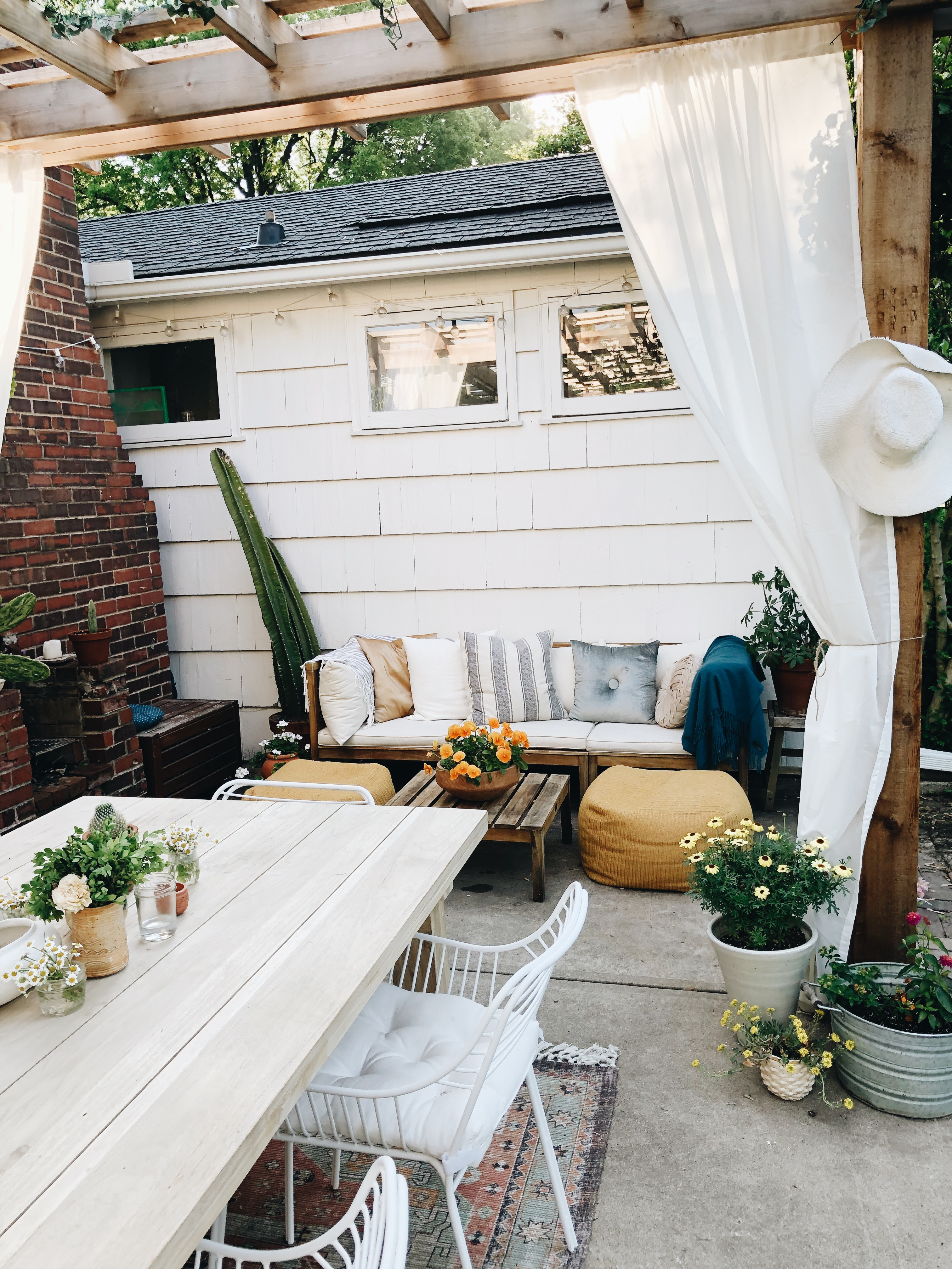 Our Back Patio with Article! / Bev Cooks