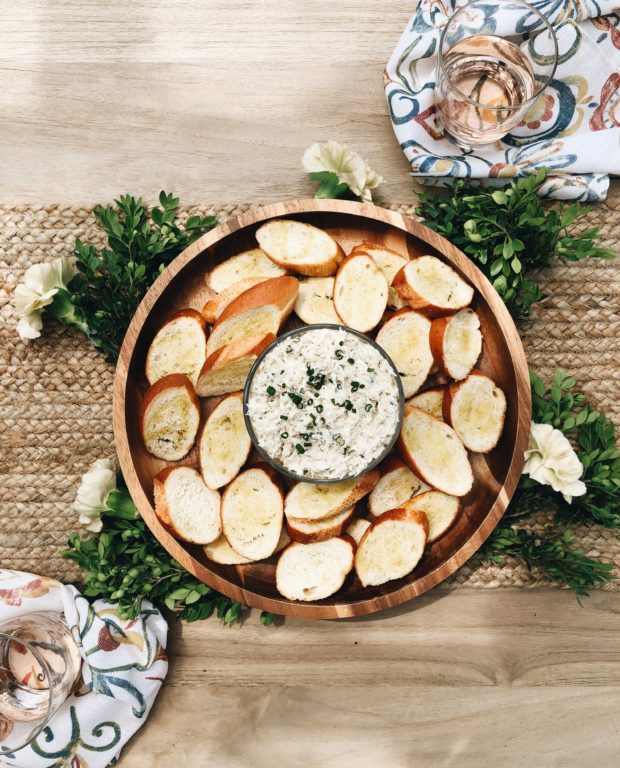 Cold Crab Dip with Crusty Baguette / Bev Cooks