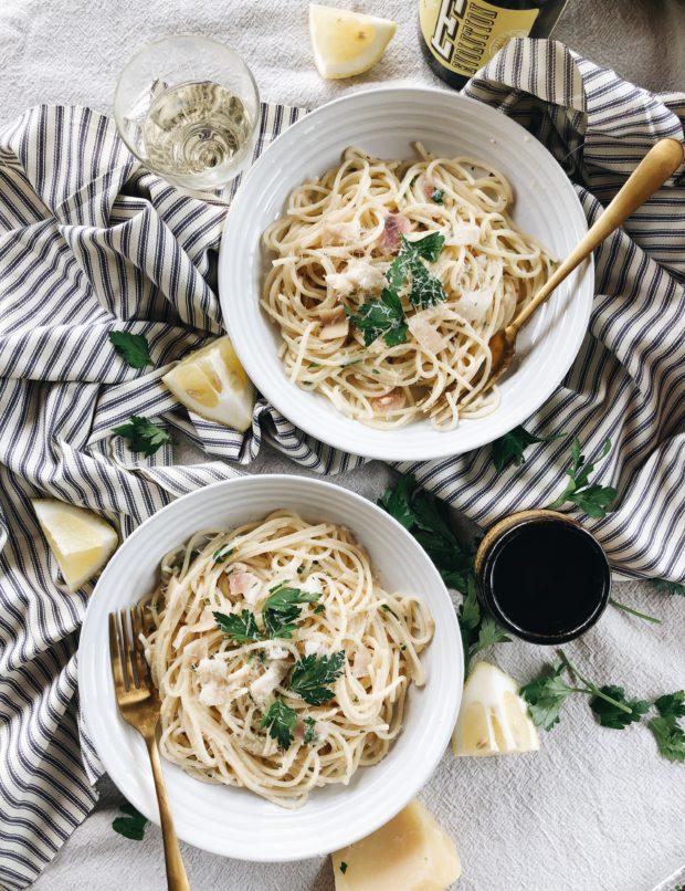 Spaghetti with Razor Clams / Bev Cooks