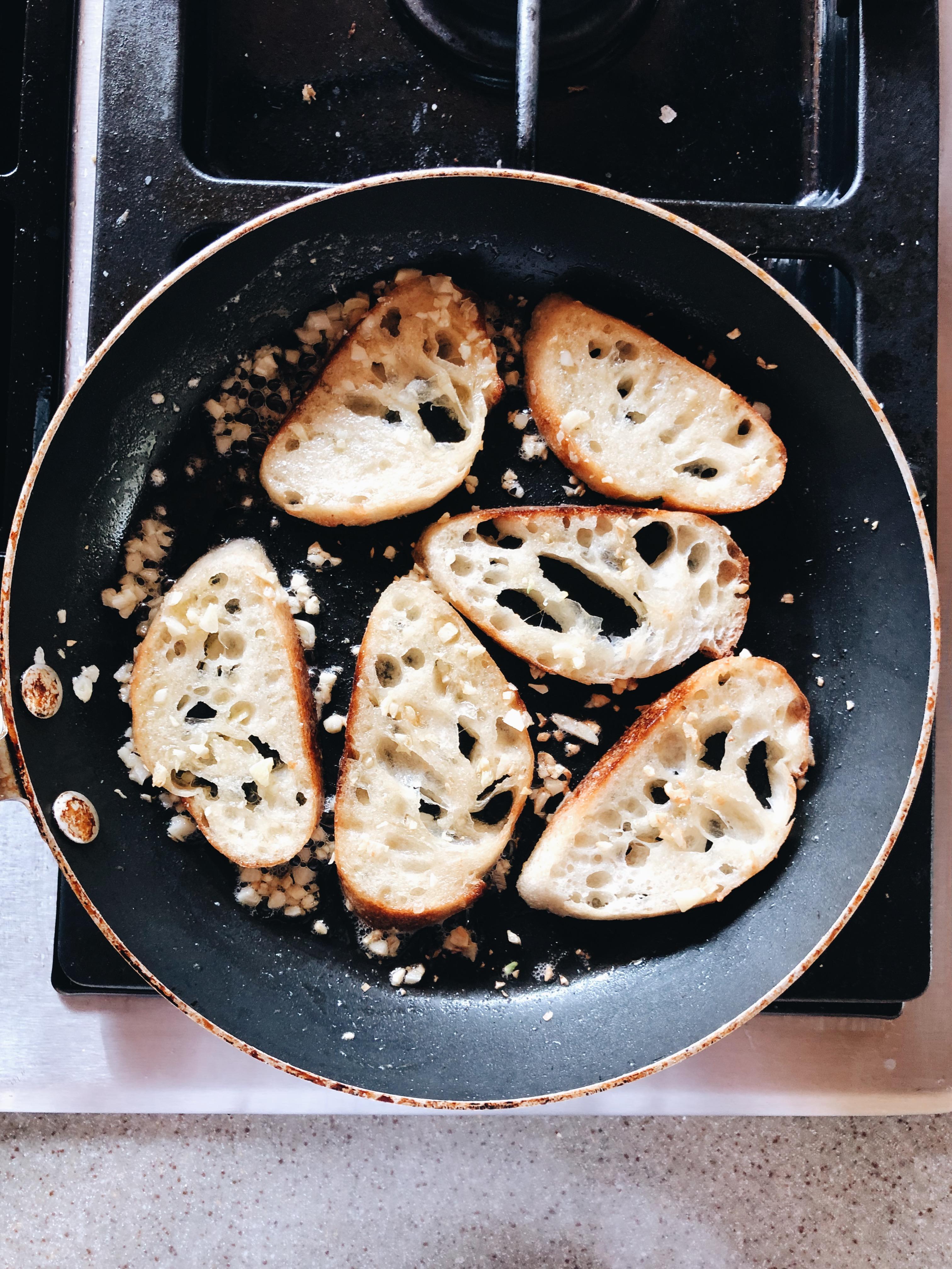 Honey Goat Cheese Crostini / Bev Cooks