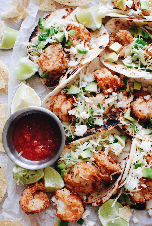 Buttermilk Shrimp Tacos / Bev Cooks