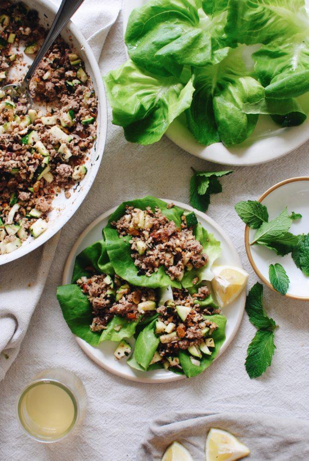 Mediterranean Turkey Lettuce Wraps / Bev Cooks
