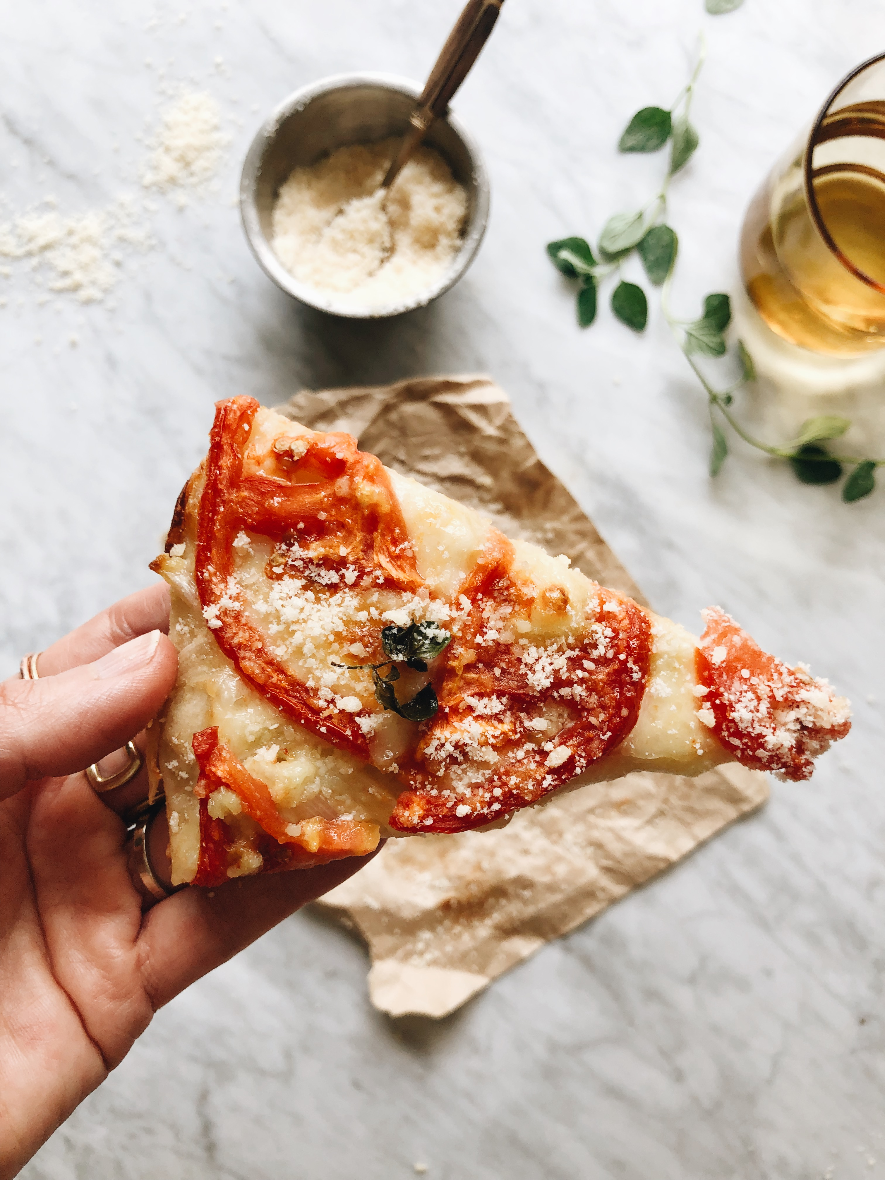 Skillet Tomato Pie / Bev Cooks