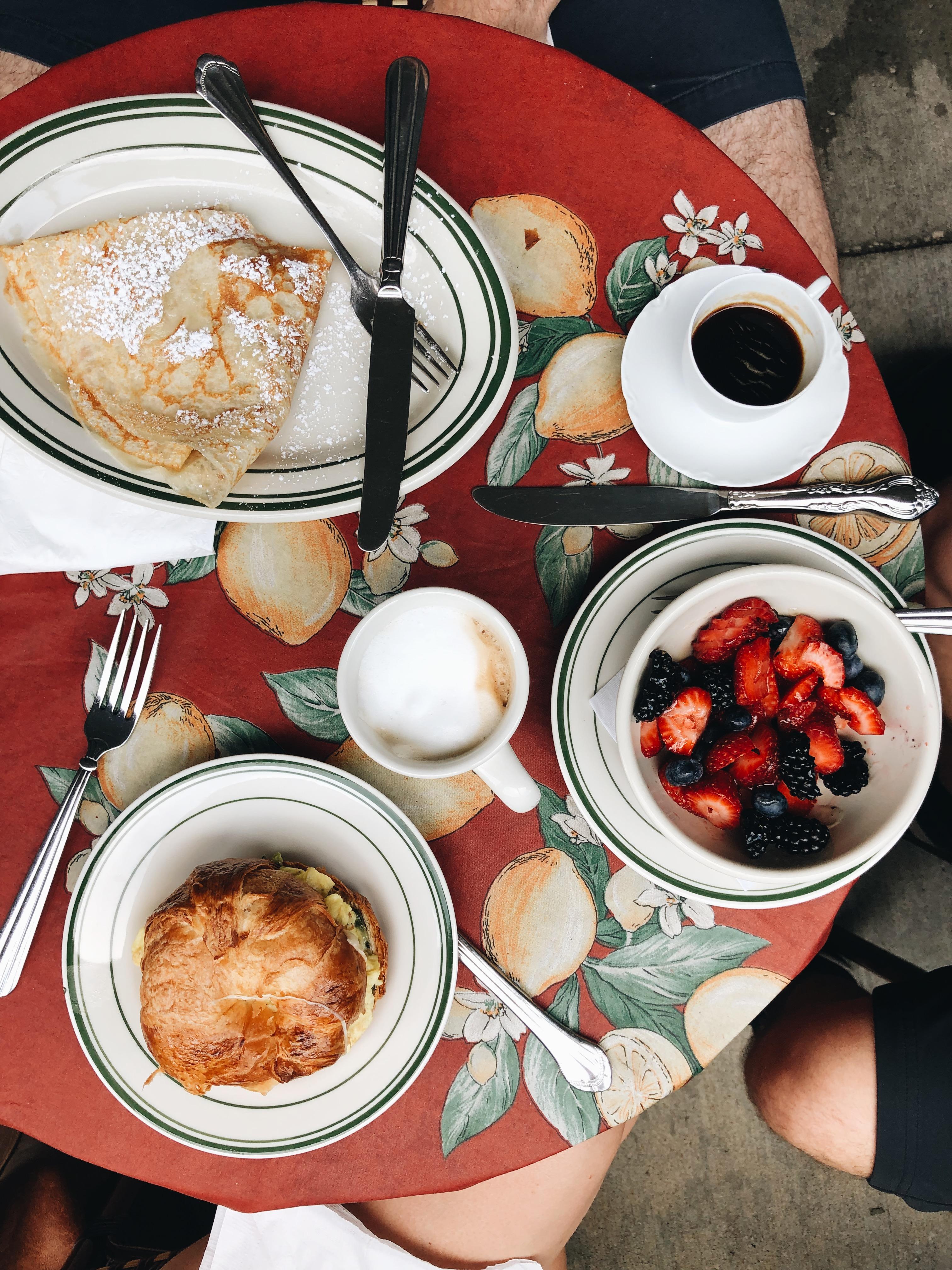 french birthday breakfast