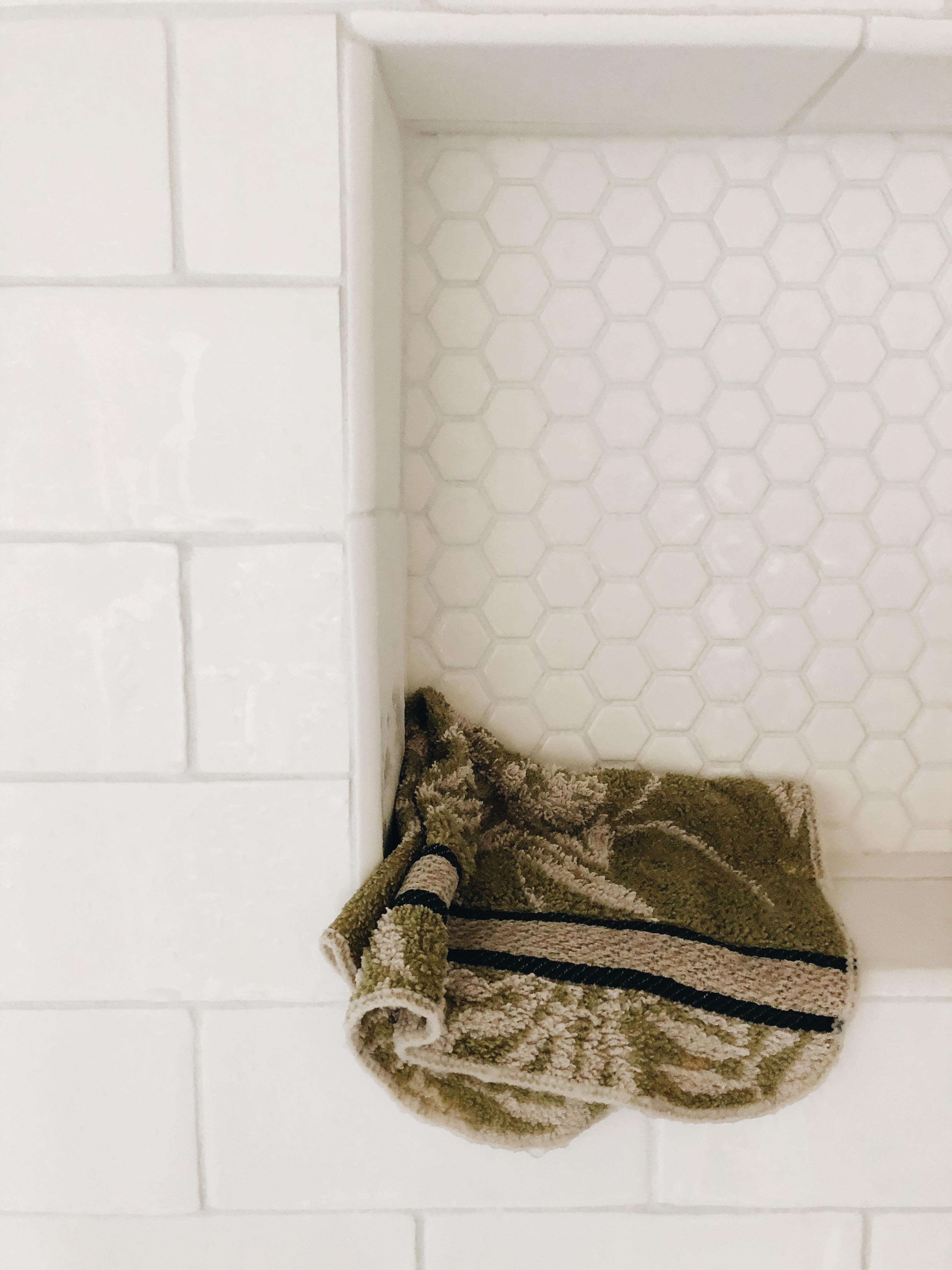rag in shower