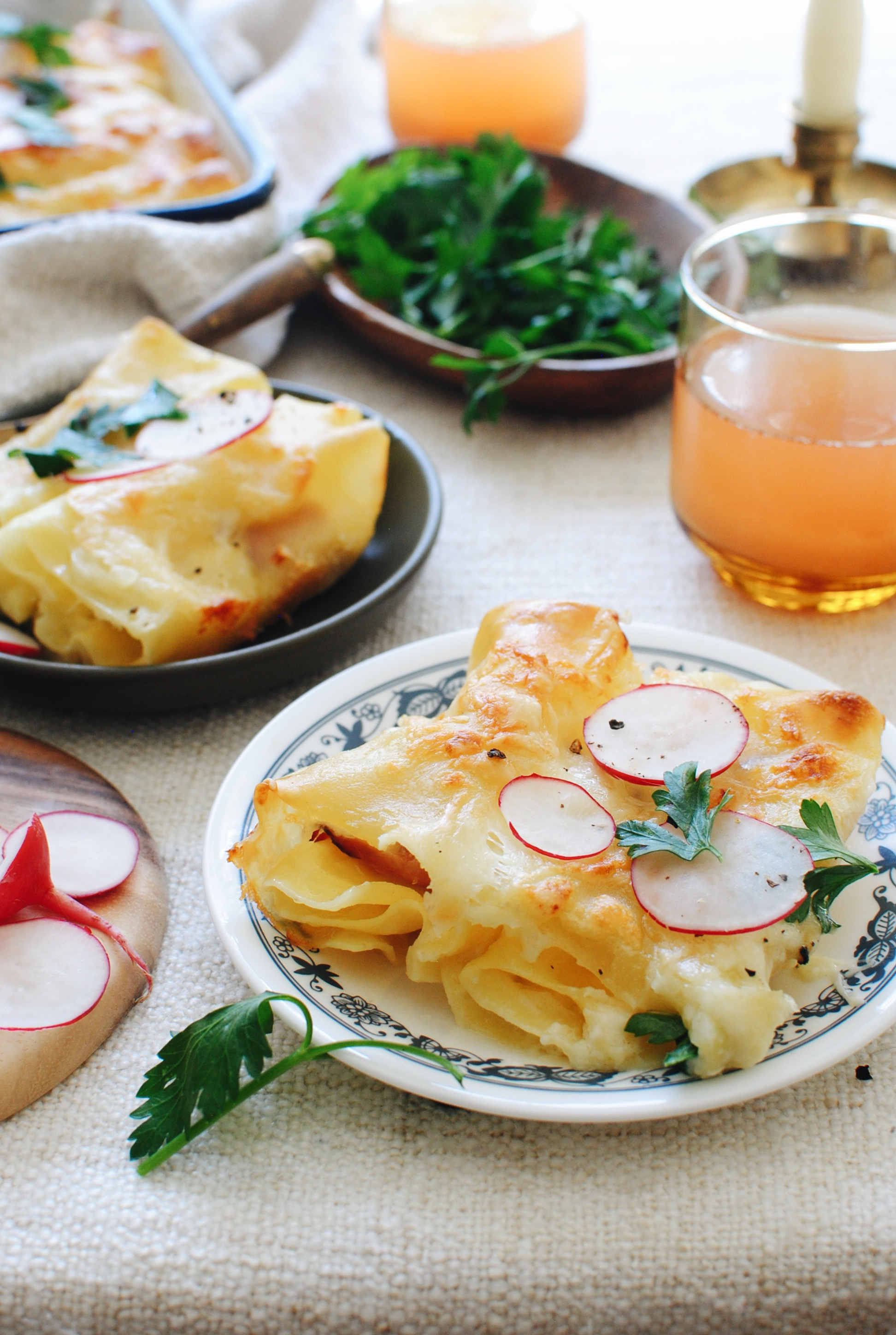 Baked Ham and Cheese Rollups / Bev Cooks