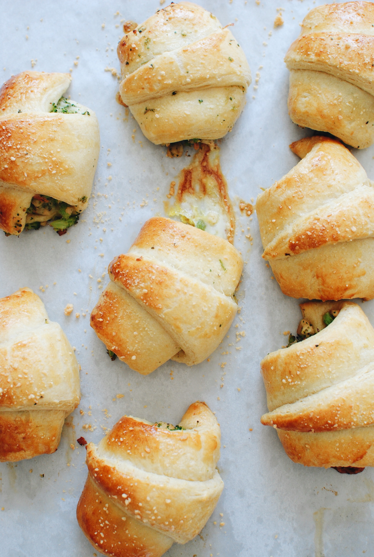 Chicken and Broccoli Stuffed Crescent Rolls / Bev Cooks