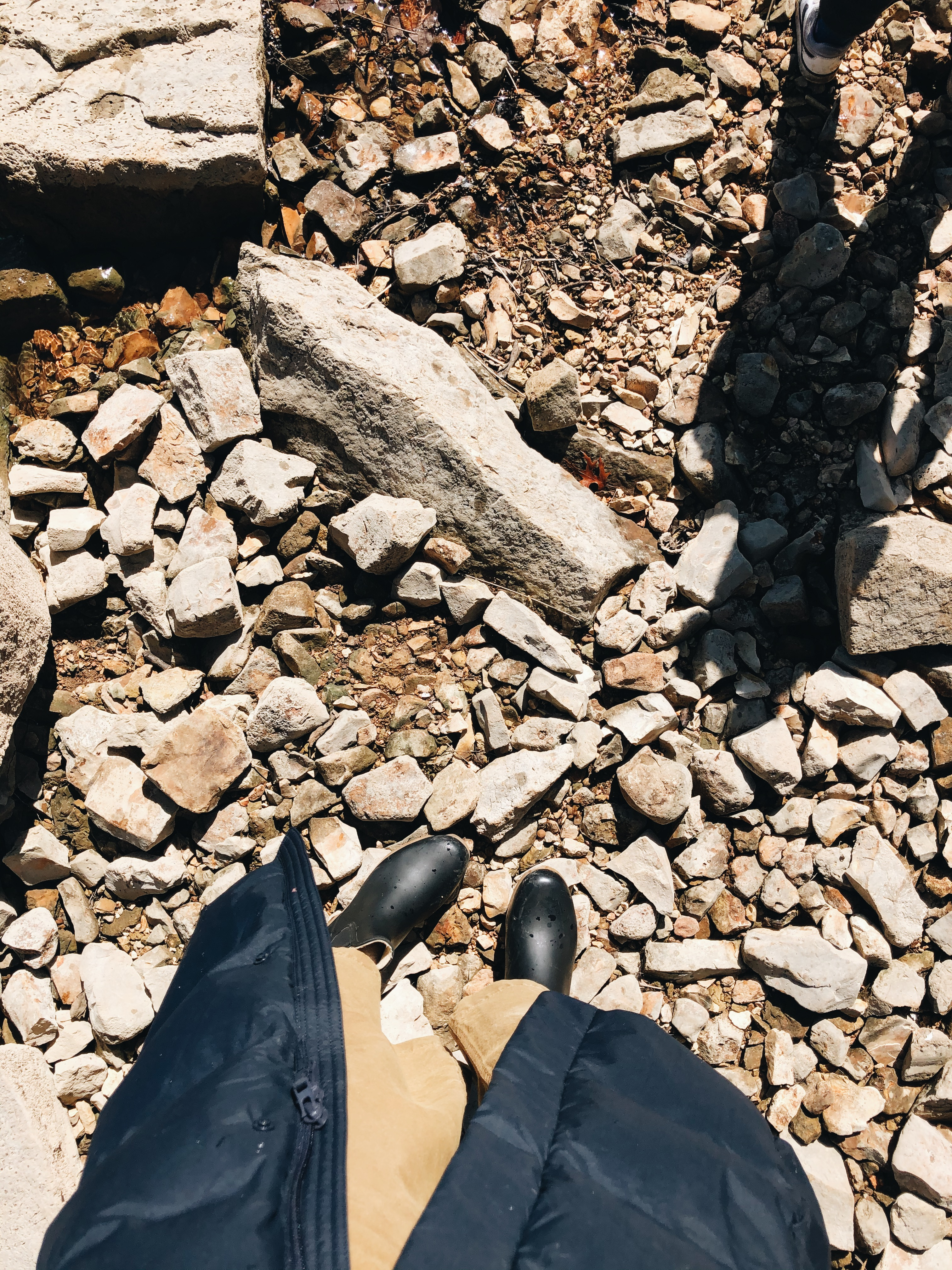 boots and rocks